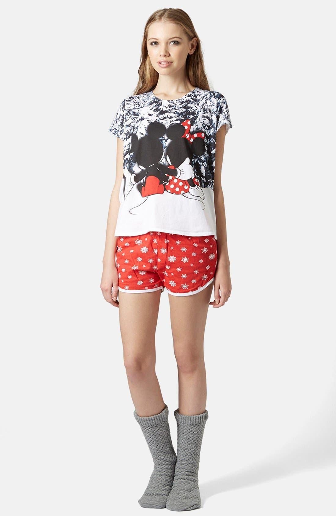 Alternate Image 5  - Topshop Mickey & Minnie Pajama Set