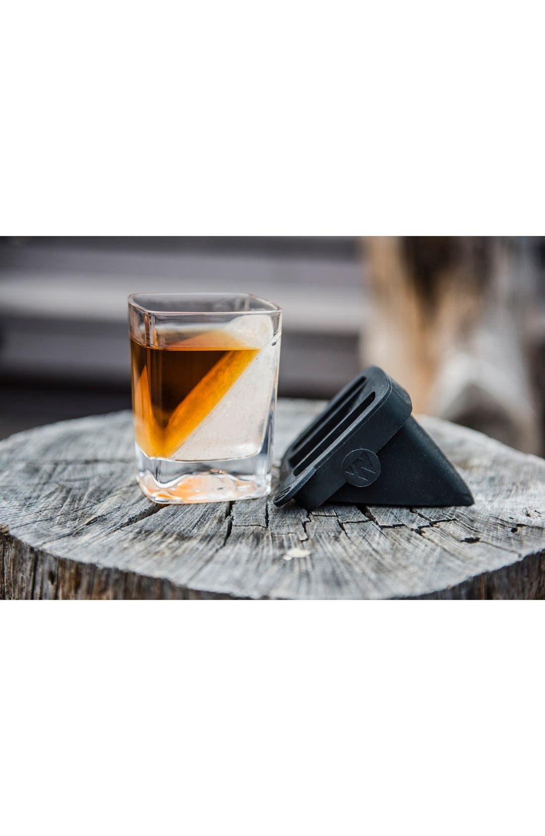 'Whiskey Wedge' Double Old-Fashioned Glass,                             Alternate thumbnail 3, color,                             Clear