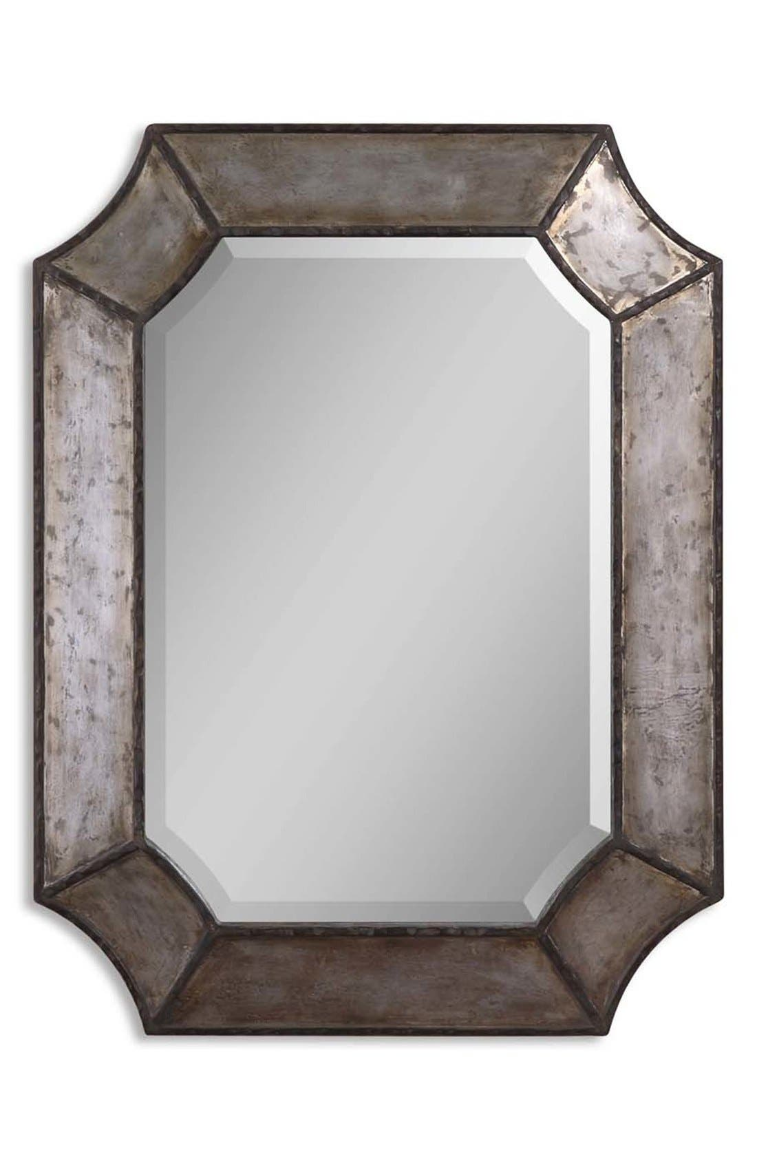 'Elliot' Distressed Mirror,                             Main thumbnail 1, color,                             Silver
