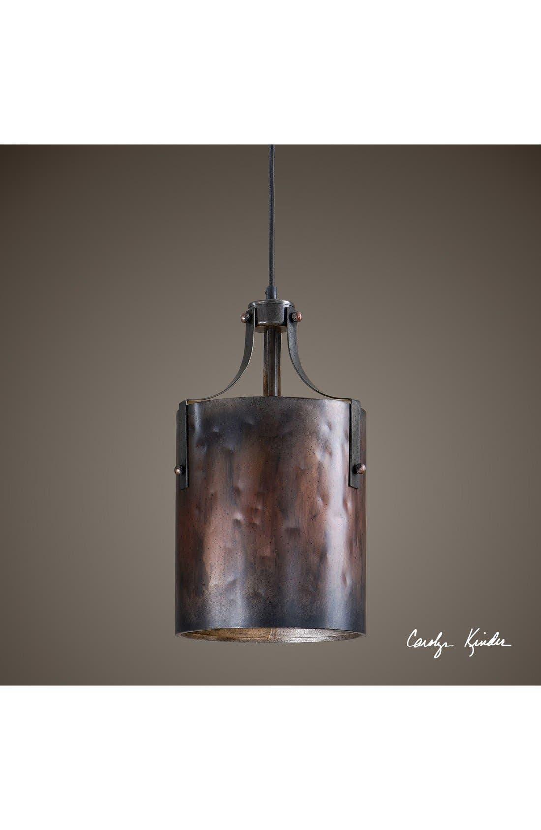 'Akron' One Light Copper Mini Pendant Lamp,                         Main,                         color, Bronze