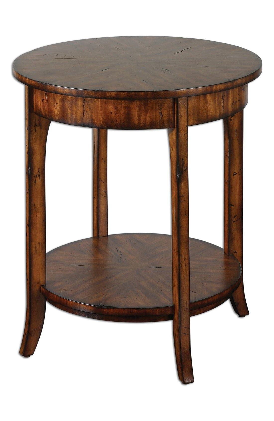 'Carmel' Distressed Wood End Table,                         Main,                         color, Brown