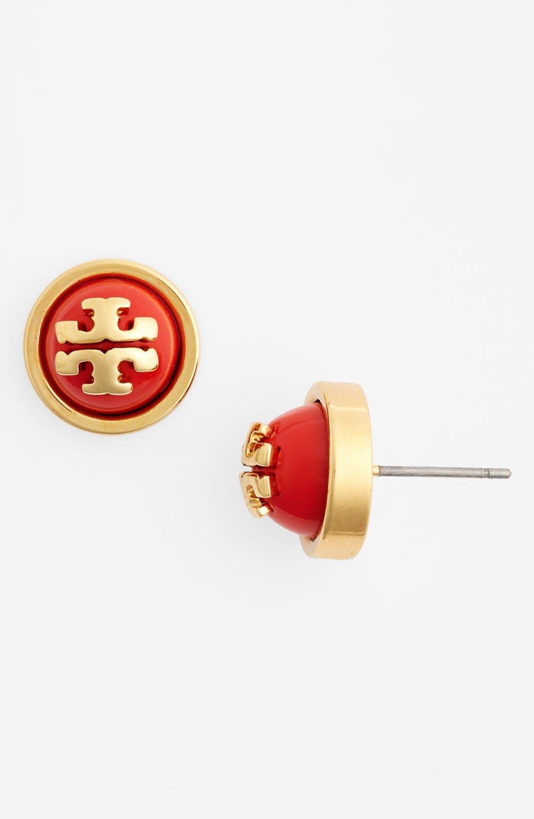 Main Image - Tory Burch 'Melodie' Logo Stud Earrings