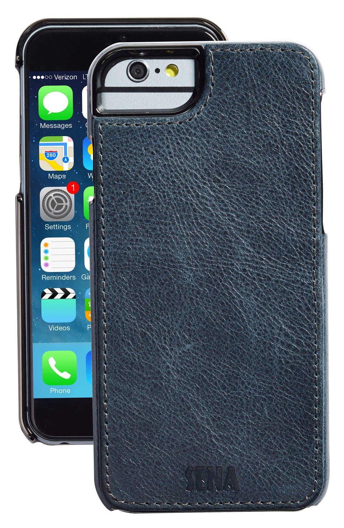 Heritage Lugano Leather iPhone 6/6s Case,                         Main,                         color, Denim