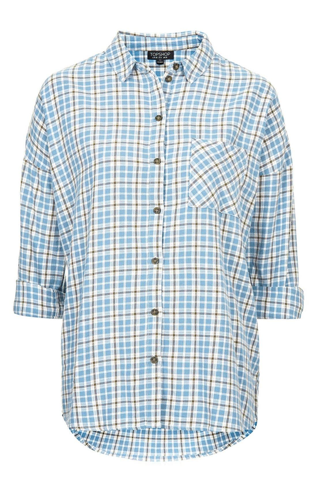 Alternate Image 3  - Topshop 'George Bobbi' Oversize Check Shirt