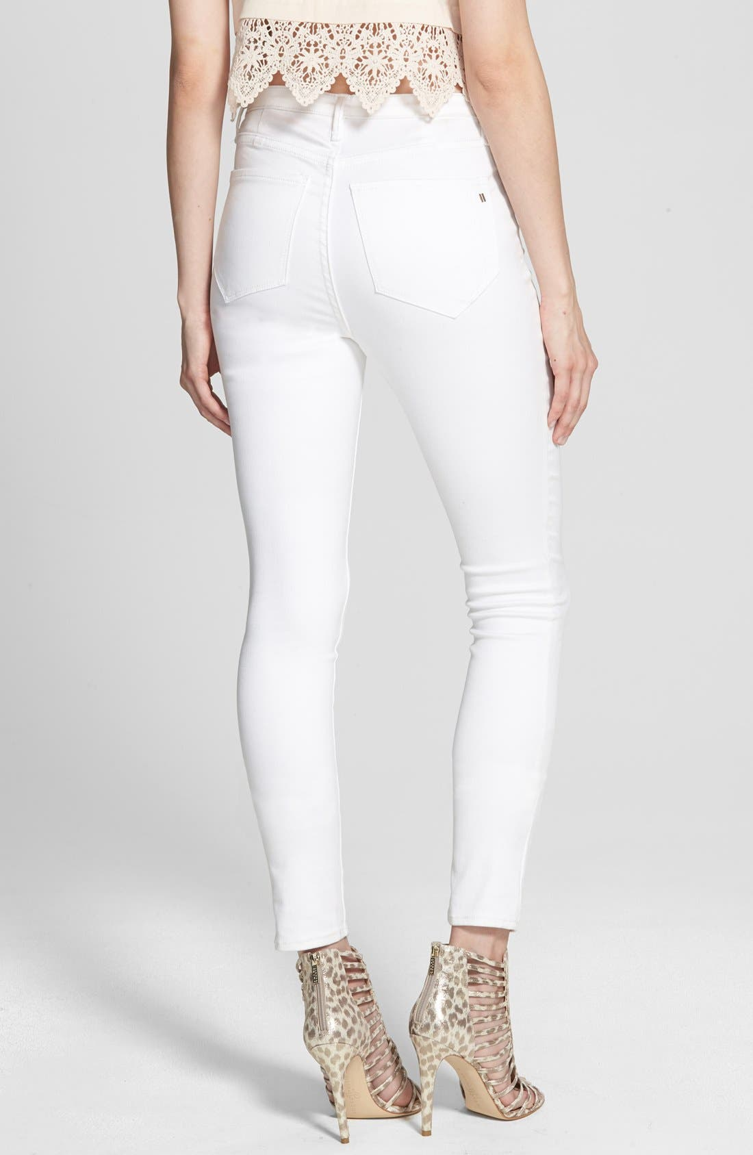 Alternate Image 2  - Kiind Of 'Empower' High Rise Denim Leggings (Rinse Silk Road)