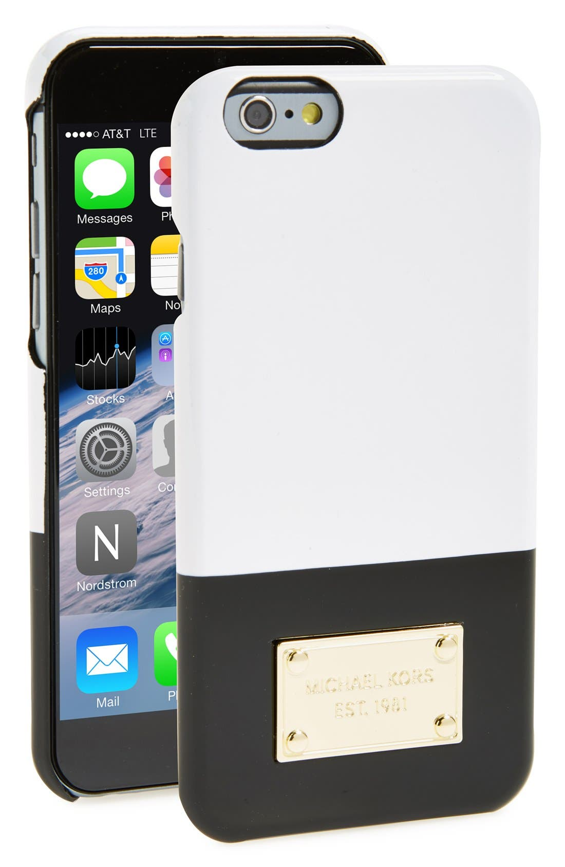 Main Image - MICHAEL Michael Kors Two-Tone Snap-On iPhone 6 Case