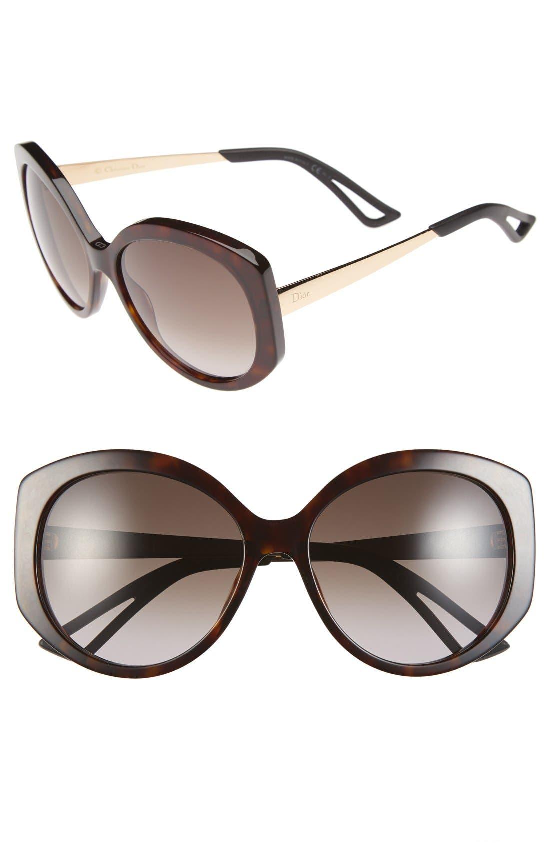 Alternate Image 1 Selected - Dior Extase 1 58mm Sunglasses