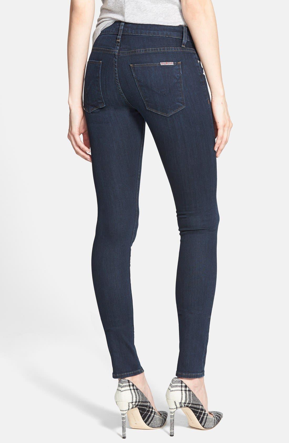 Alternate Image 2  - Hudson Jeans Mid Rise Skinny Jeans (Problem Child)