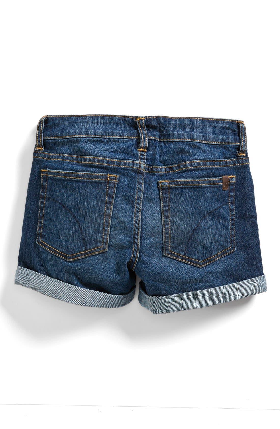 Alternate Image 2  - Joe's Classic Cuff Denim Shorts (Big Girls)