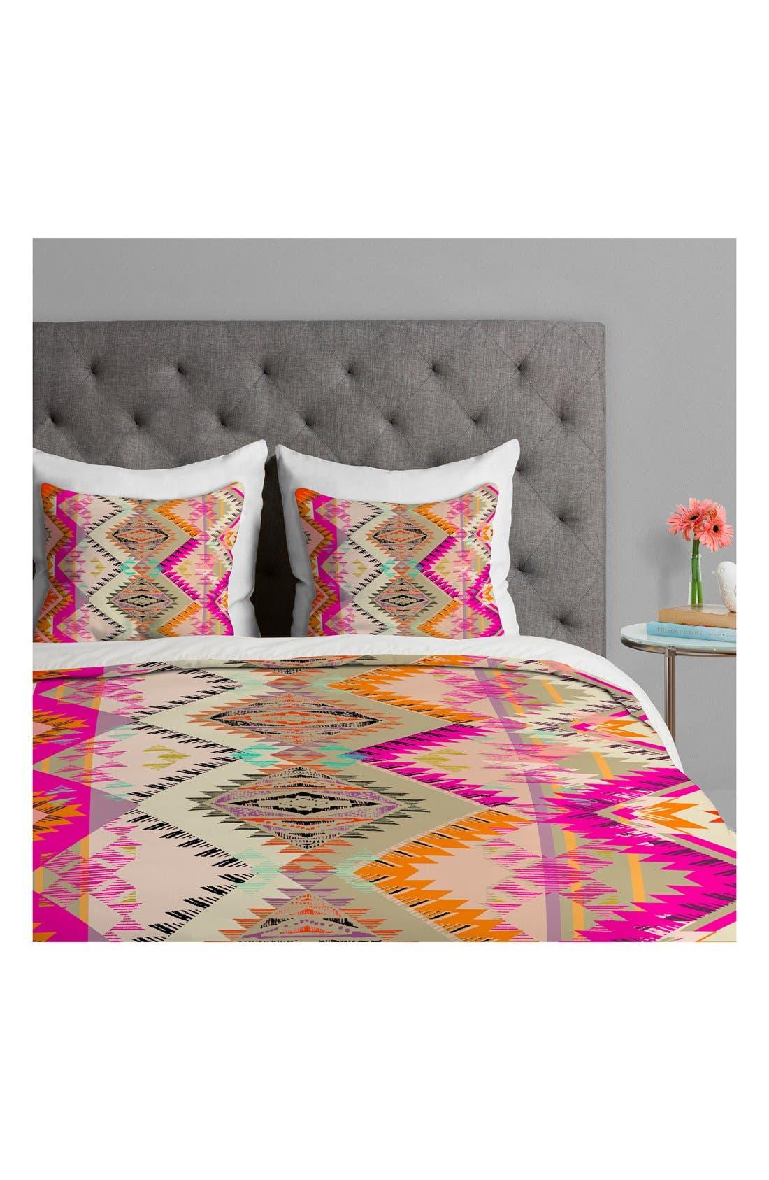 Pattern State Marker Sun Duvet Cover & Sham Set,                             Alternate thumbnail 2, color,                             Pink