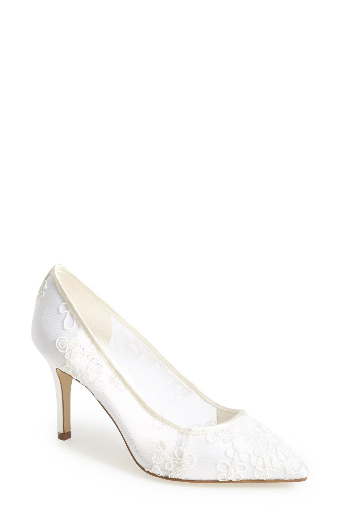 Alternate Image 1 Selected - Menbur 'Flora' Lace Overlay Pointy Toe Pump (Women)
