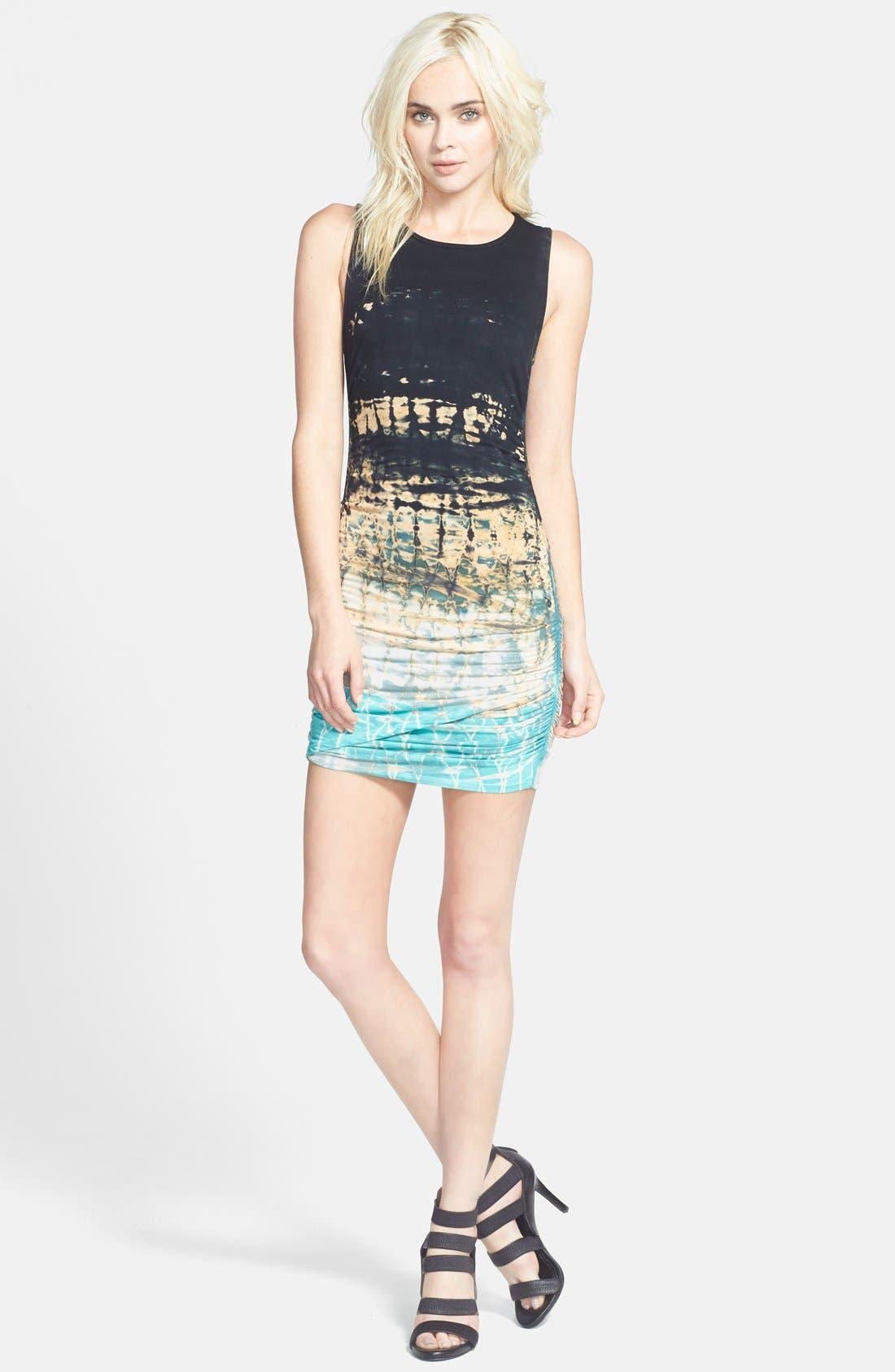 Alternate Image 4  - Gypsy 05 Shirred Body-Con Minidress