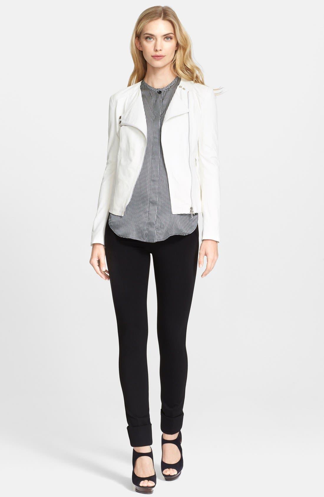Alternate Image 3  - Armani Collezioni Glove Leather Moto Jacket