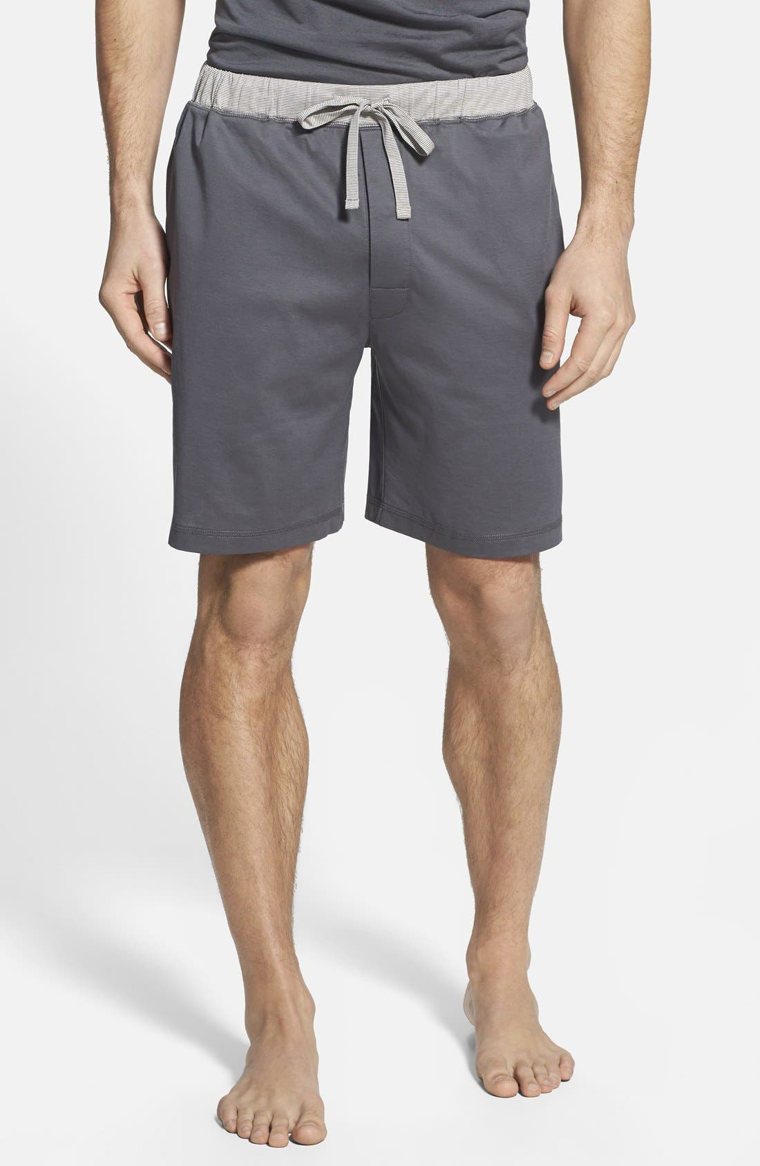 'Down Time' Knit Lounge Shorts,                             Main thumbnail 1, color,                             Lead