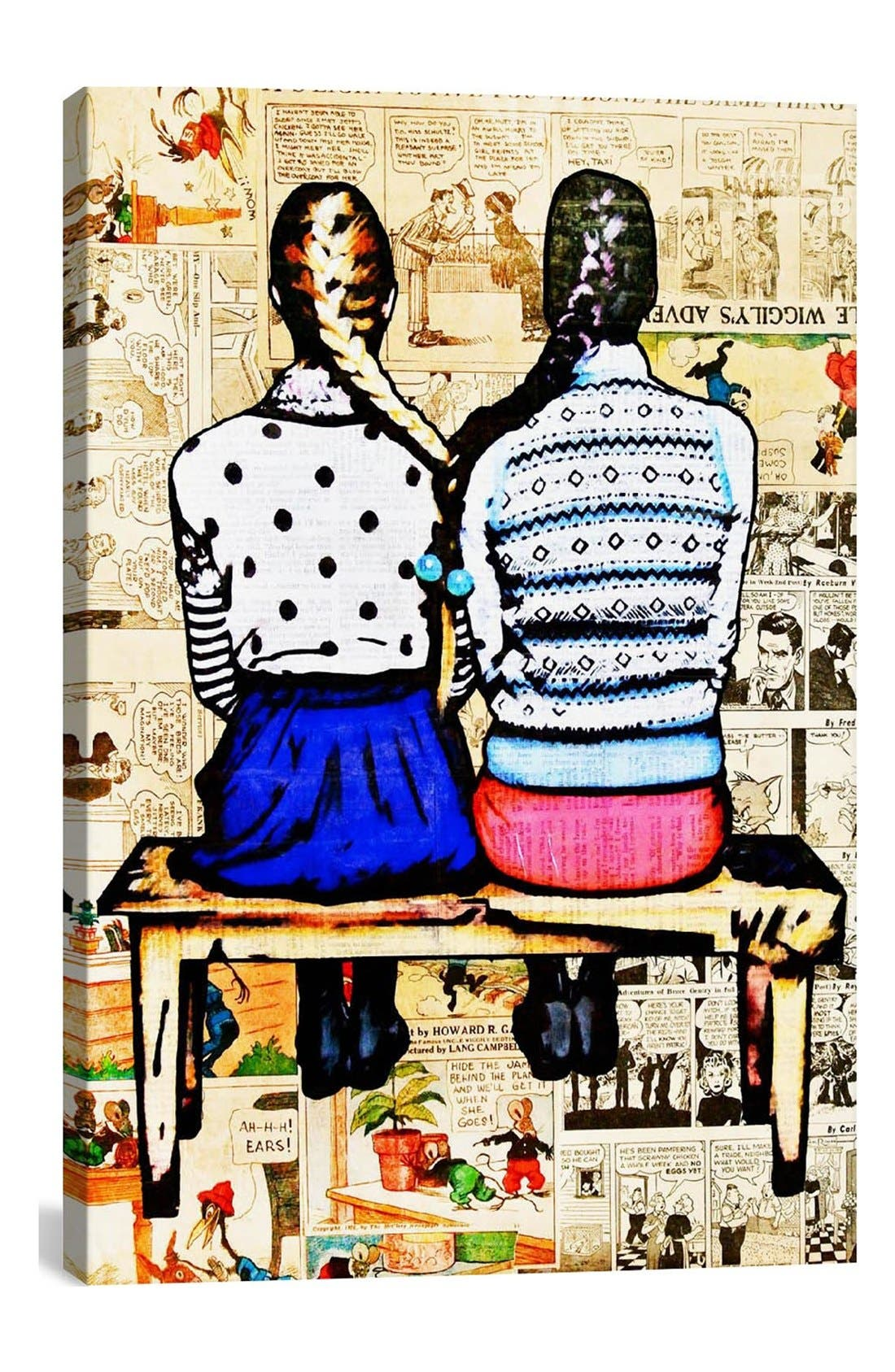 Alternate Image 1 Selected - iCanvas 'See You in the Funny Papers - Annie Terrazzo' Giclée Print Canvas Art