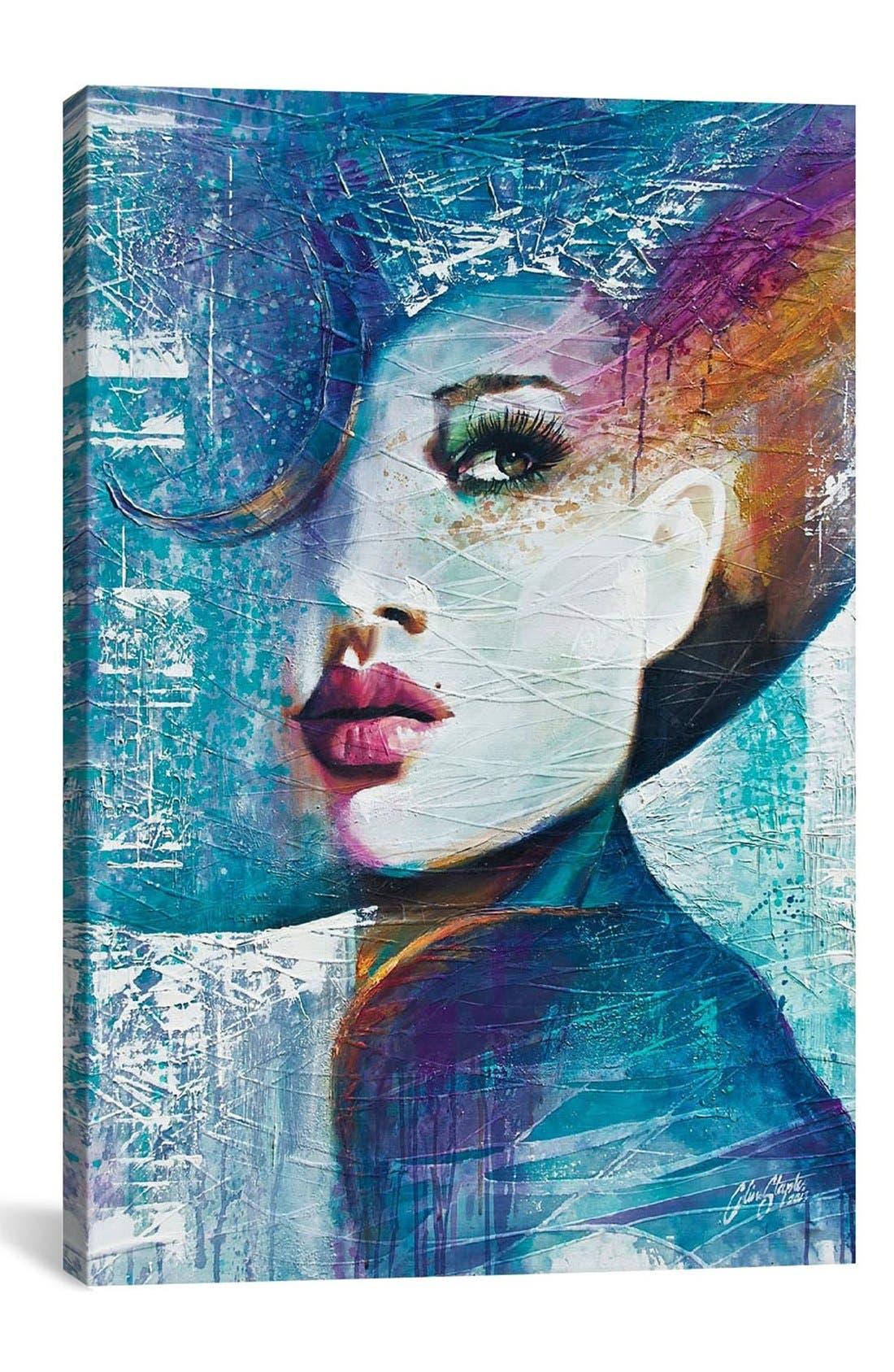 Main Image - iCanvas 'Angie - Collin Staples' Giclée Print Canvas Art