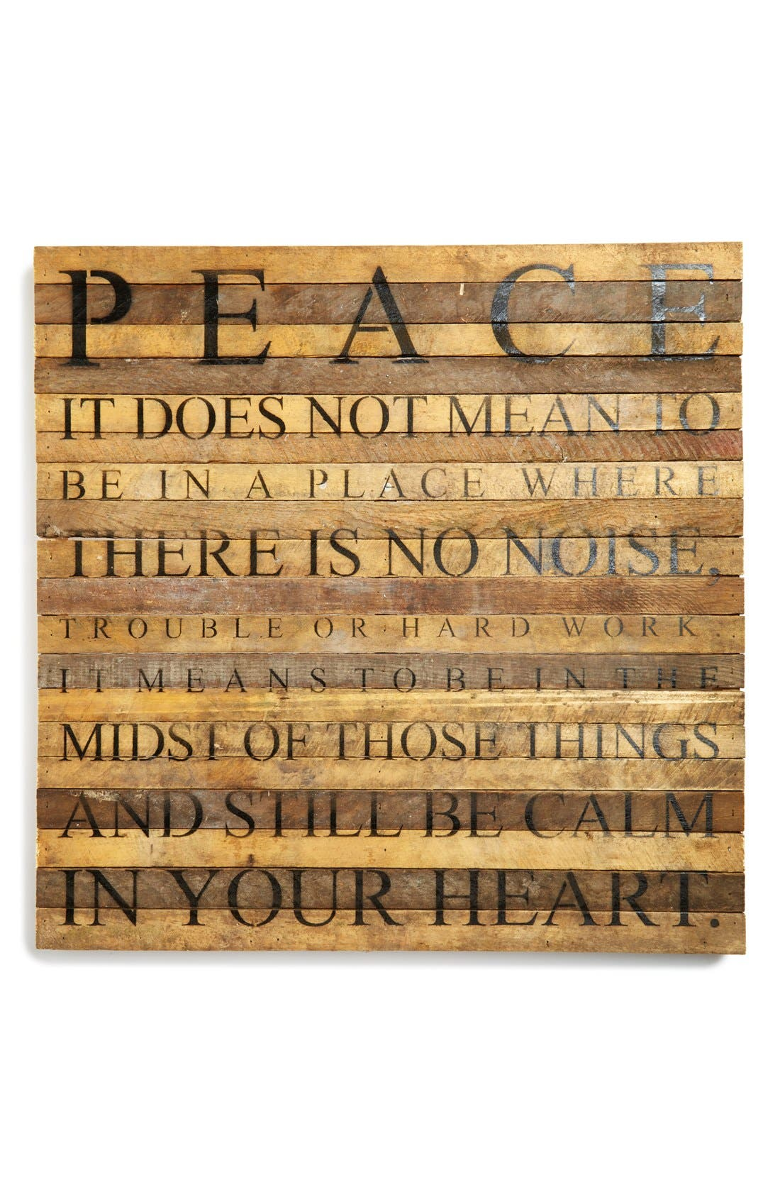 Main Image - Second Nature by Hand 'Peace' Repurposed Wood Wall Art