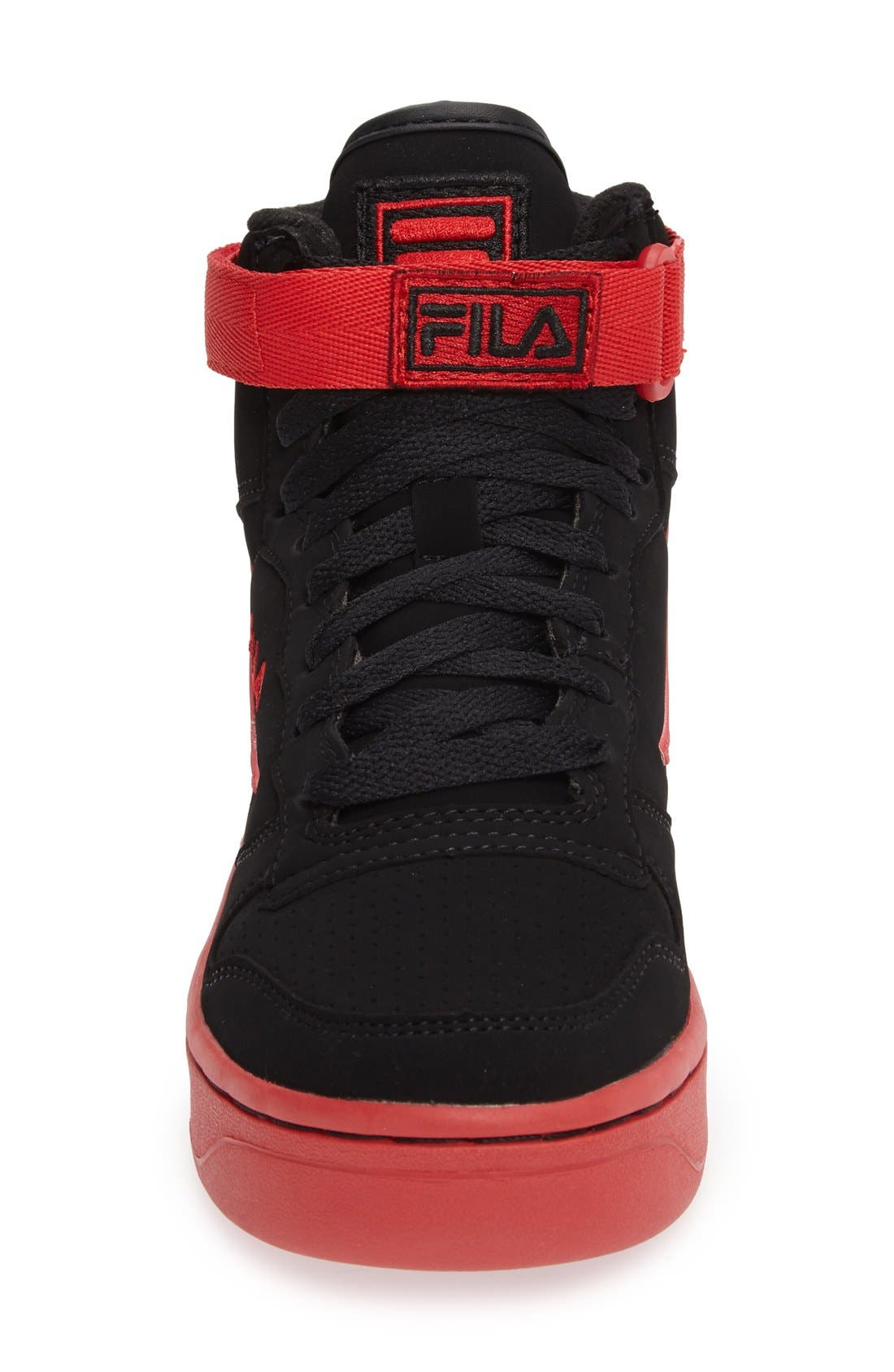 USA FX-100 High Top Sneaker,                             Alternate thumbnail 3, color,                             Black/ Red
