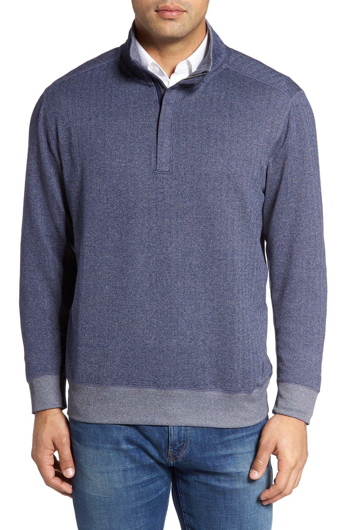 Pro Formance Quarter Zip Sweater,                             Main thumbnail 1, color,                             Blue Note Heather