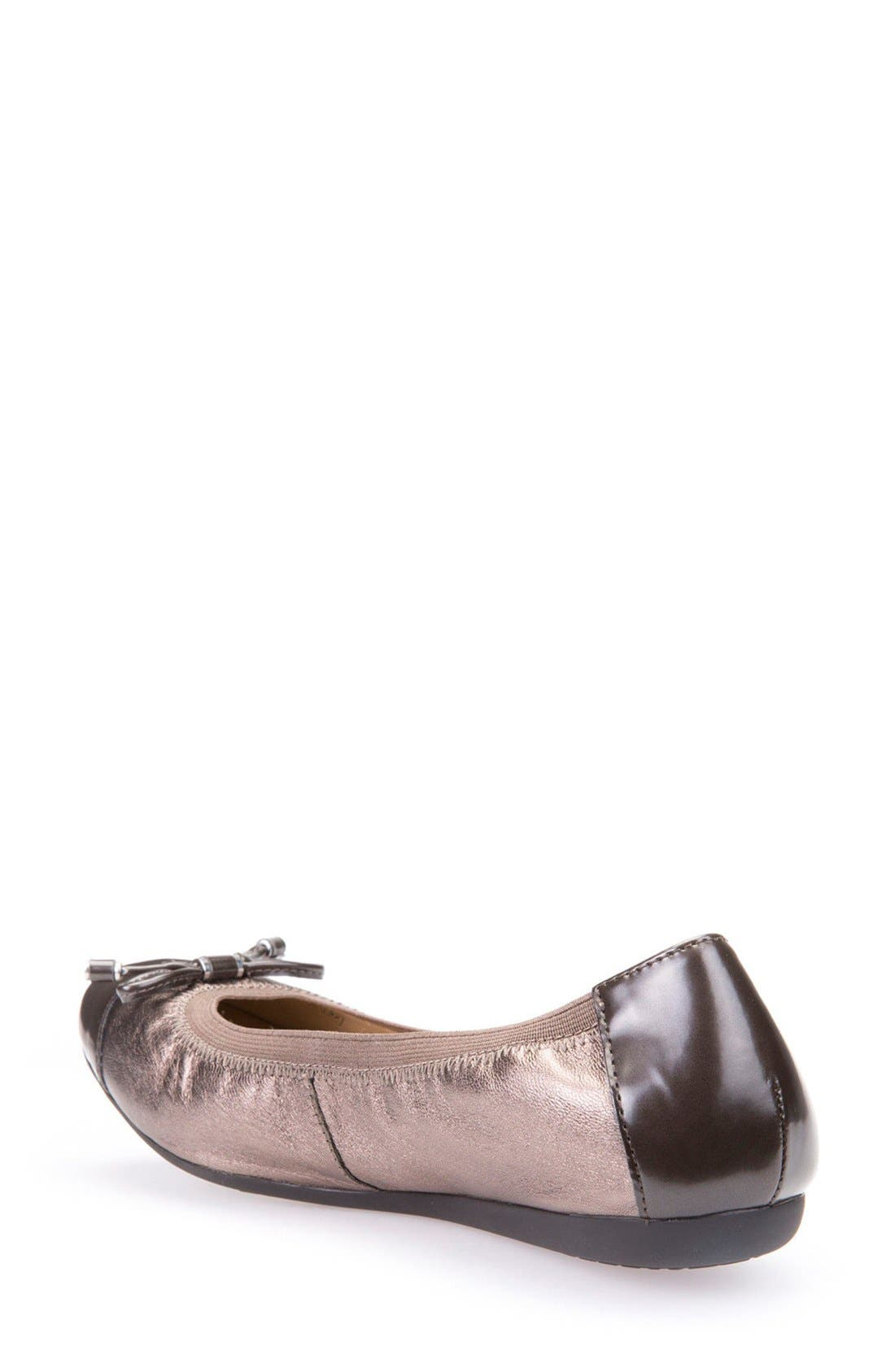 Alternate Image 2  - Geox Lola Fit Cap Toe Ballet Flat (Women)