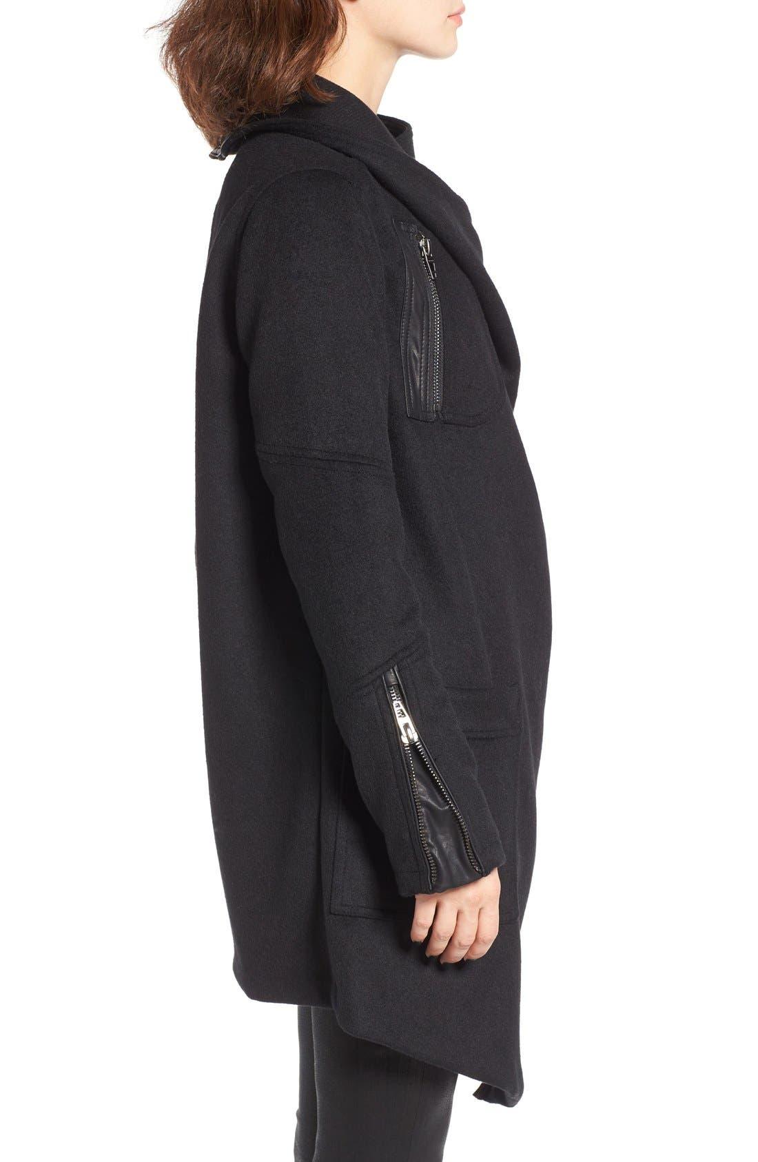 Alternate Image 3  - BLANKNYC Blackout Wool Blend Drape Jacket