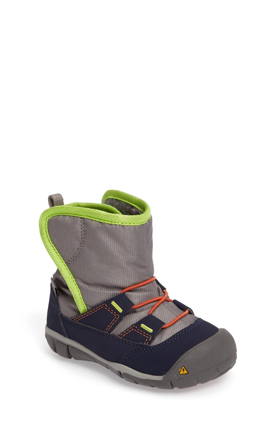 Alternate Image 1 Selected - Keen Peek-A-Boot Fleece Lined Boot (Baby & Walker)