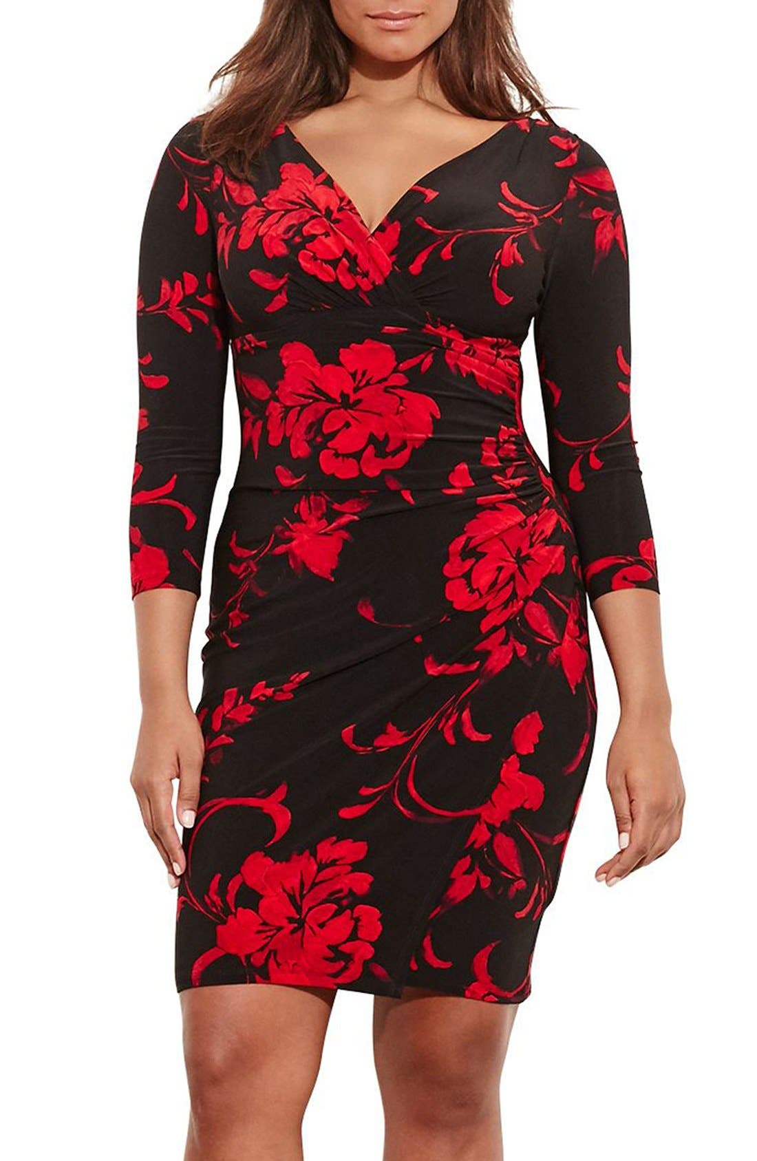 Lauren Ralph Lauren Elsie Sheath Dress (Plus Size)