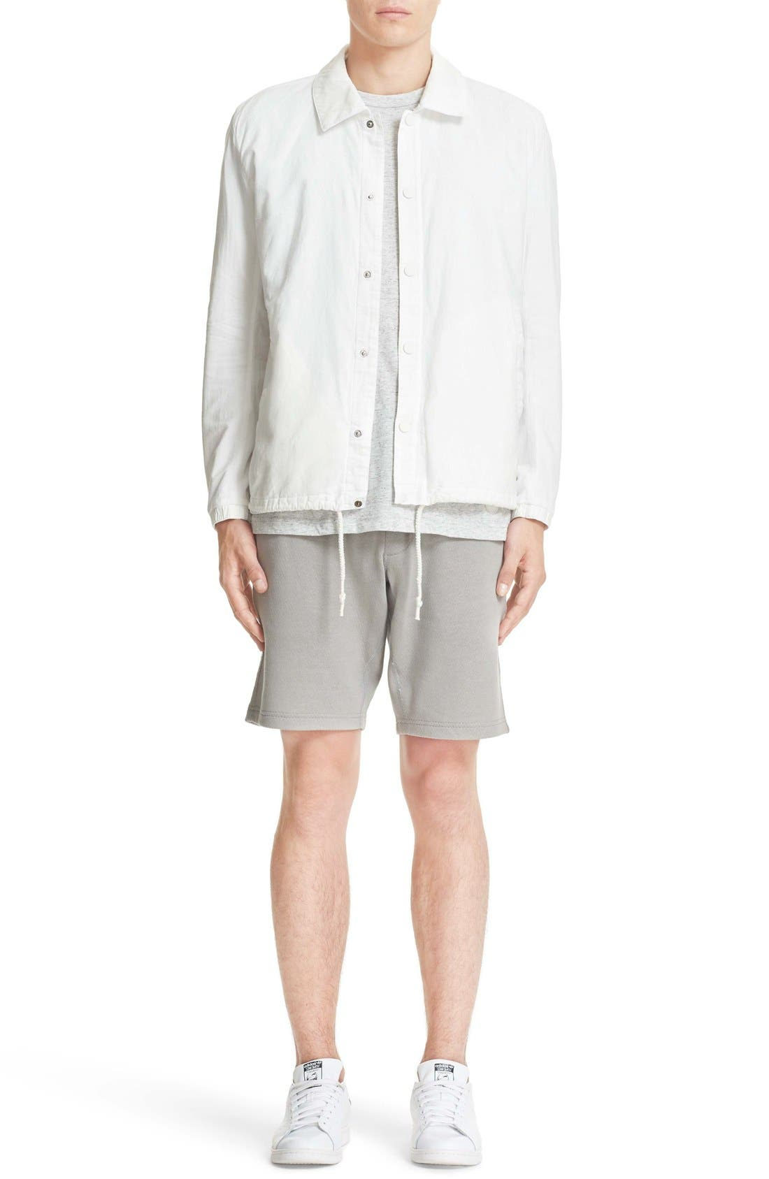 Cotton & Linen Coach Jacket,                             Alternate thumbnail 6, color,                             Off White