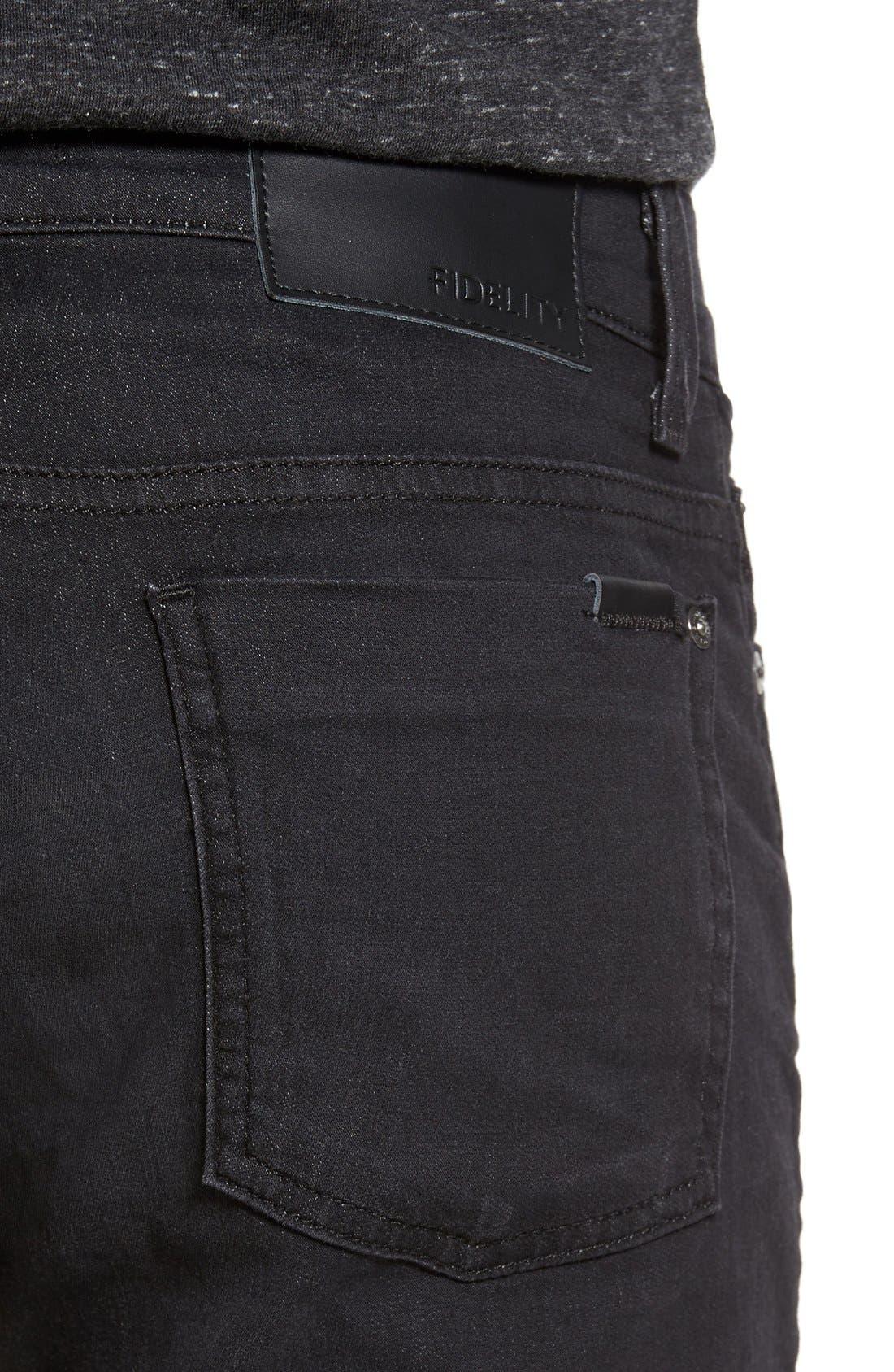 Torino Slim Fit Jeans,                             Alternate thumbnail 4, color,                             Raven Black