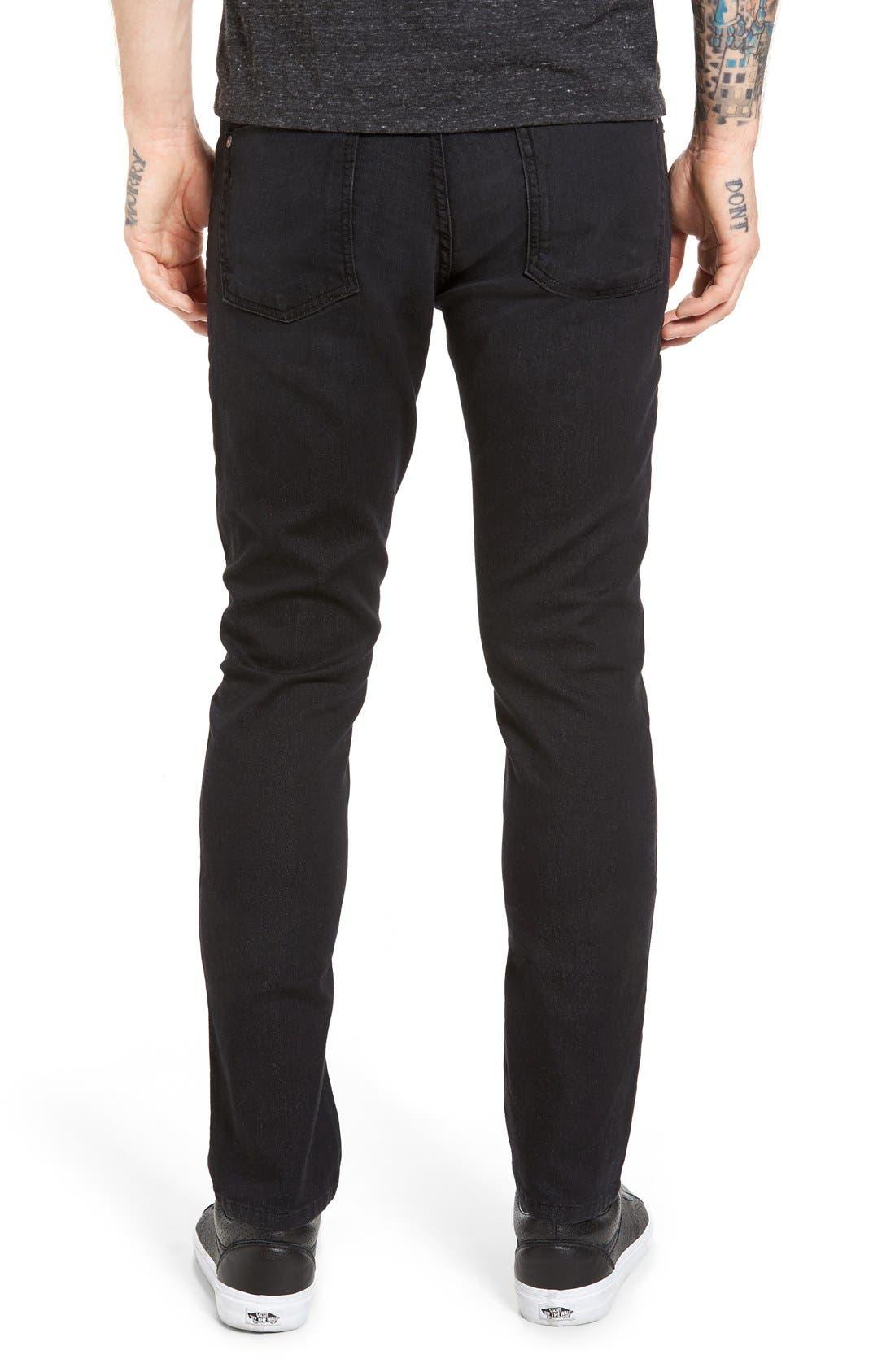 Torino Slim Fit Jeans,                             Alternate thumbnail 2, color,                             Raven Black