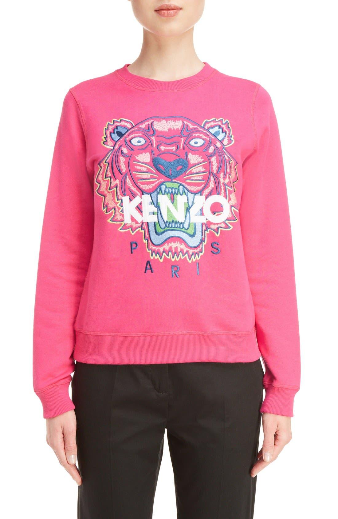 Alternate Image 1 Selected - KENZO Embroidered Tiger Cotton Sweatshirt