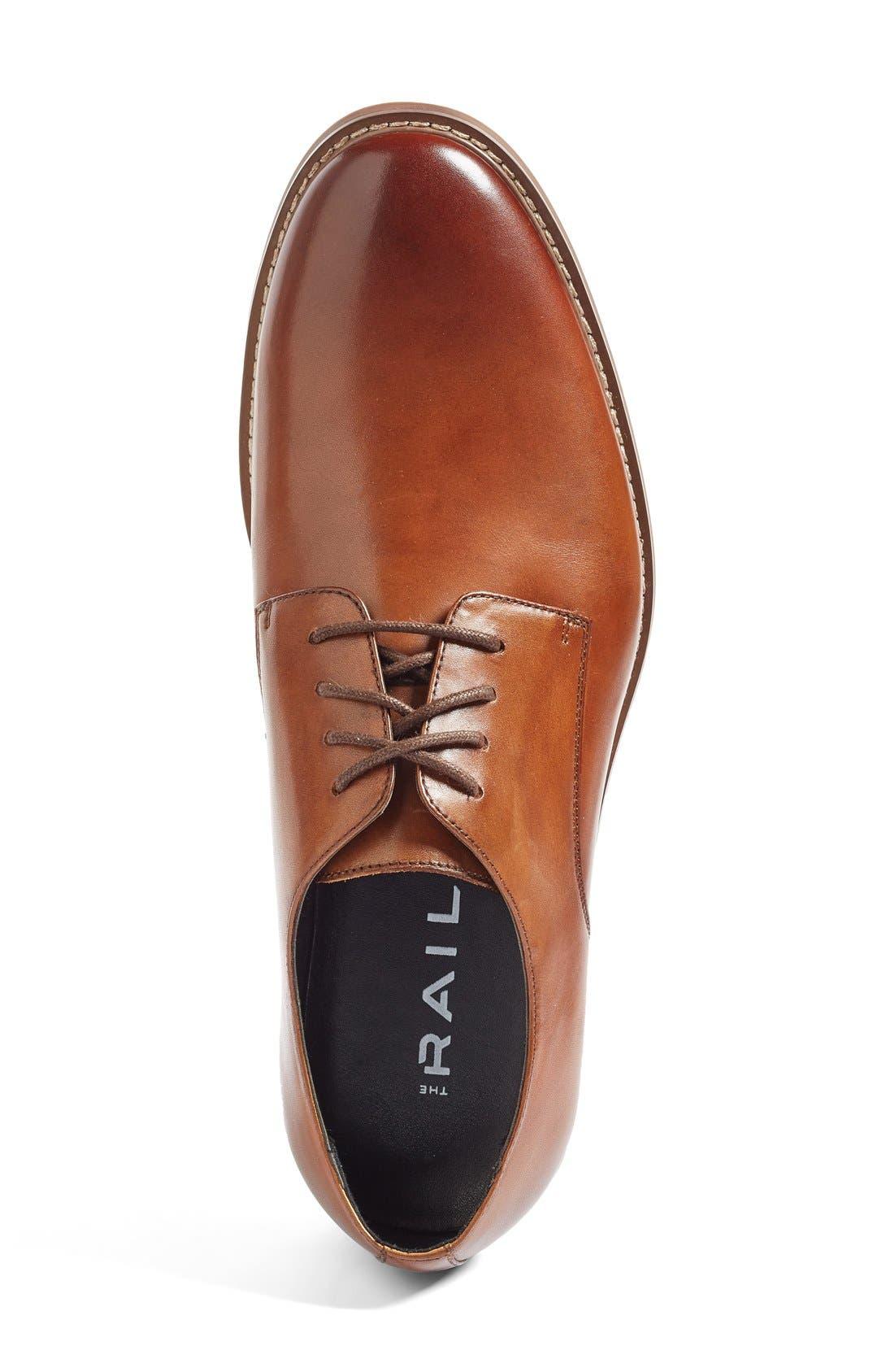 Everett Plain Toe Derby,                             Alternate thumbnail 3, color,                             Tan Leather
