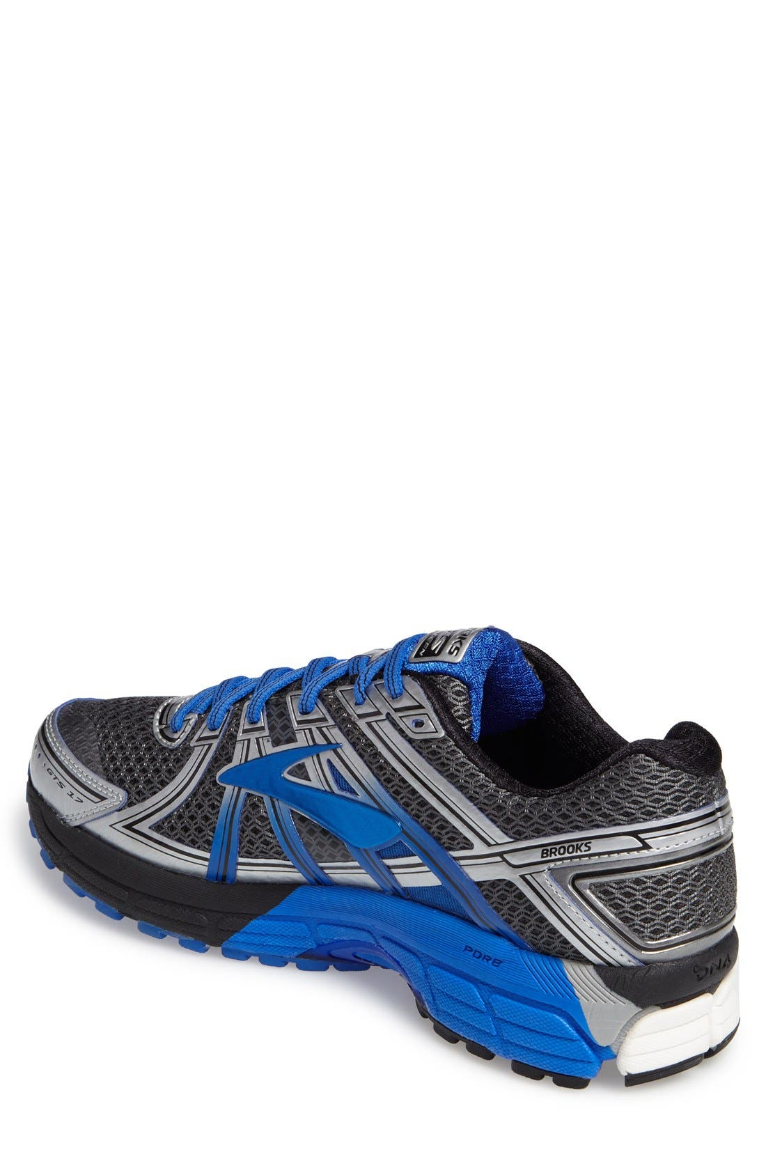 Adrenaline GTS 17 Running Shoe,                             Alternate thumbnail 2, color,                             Anthracite/ Blue/ Silver