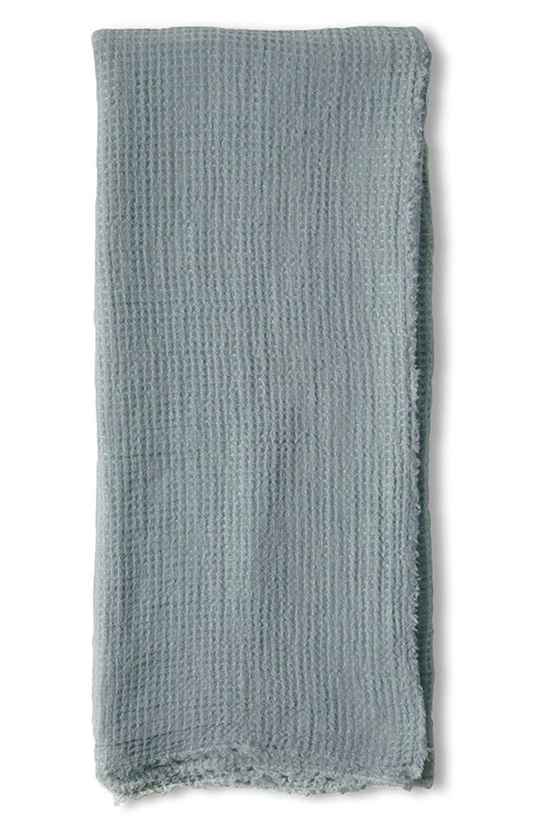 Venice Oversize Throw Blanket,                         Main,                         color, Dusty Blue