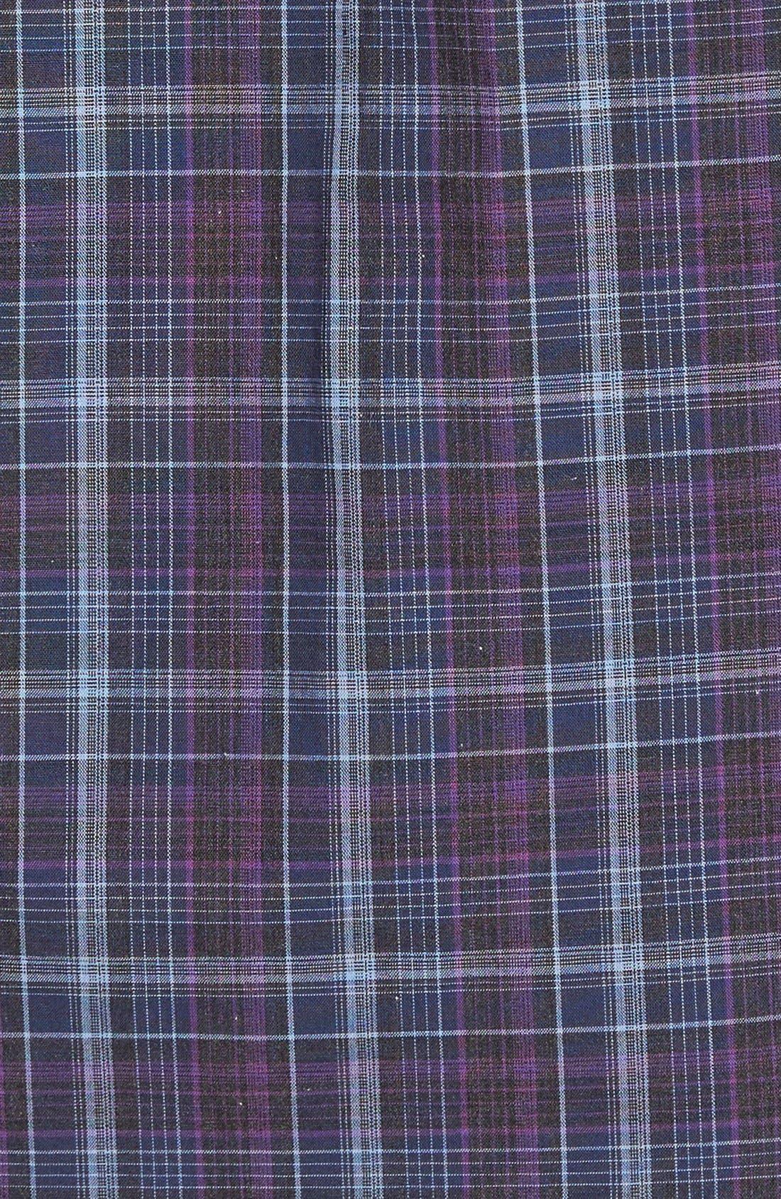 Bulatao Trim Fit Plaid Sport Shirt,                             Alternate thumbnail 5, color,                             Purple
