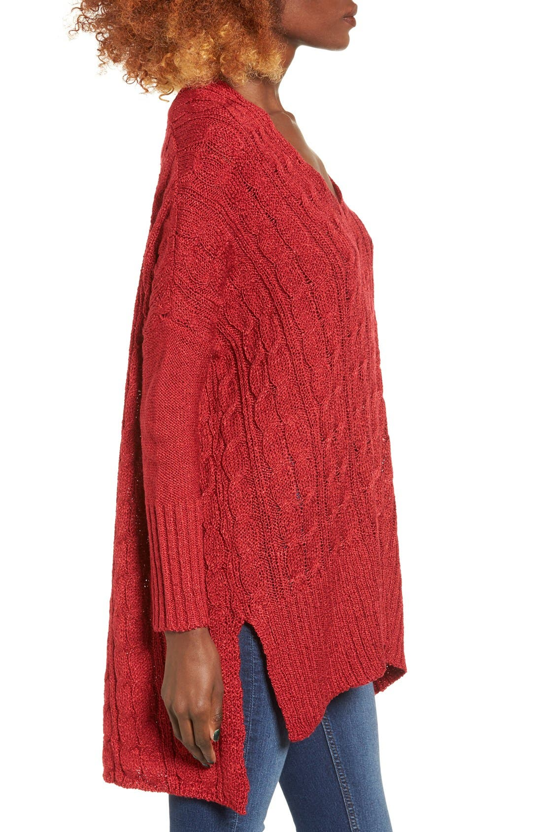 Alternate Image 3  - Love by Design Cable Knit Pullover