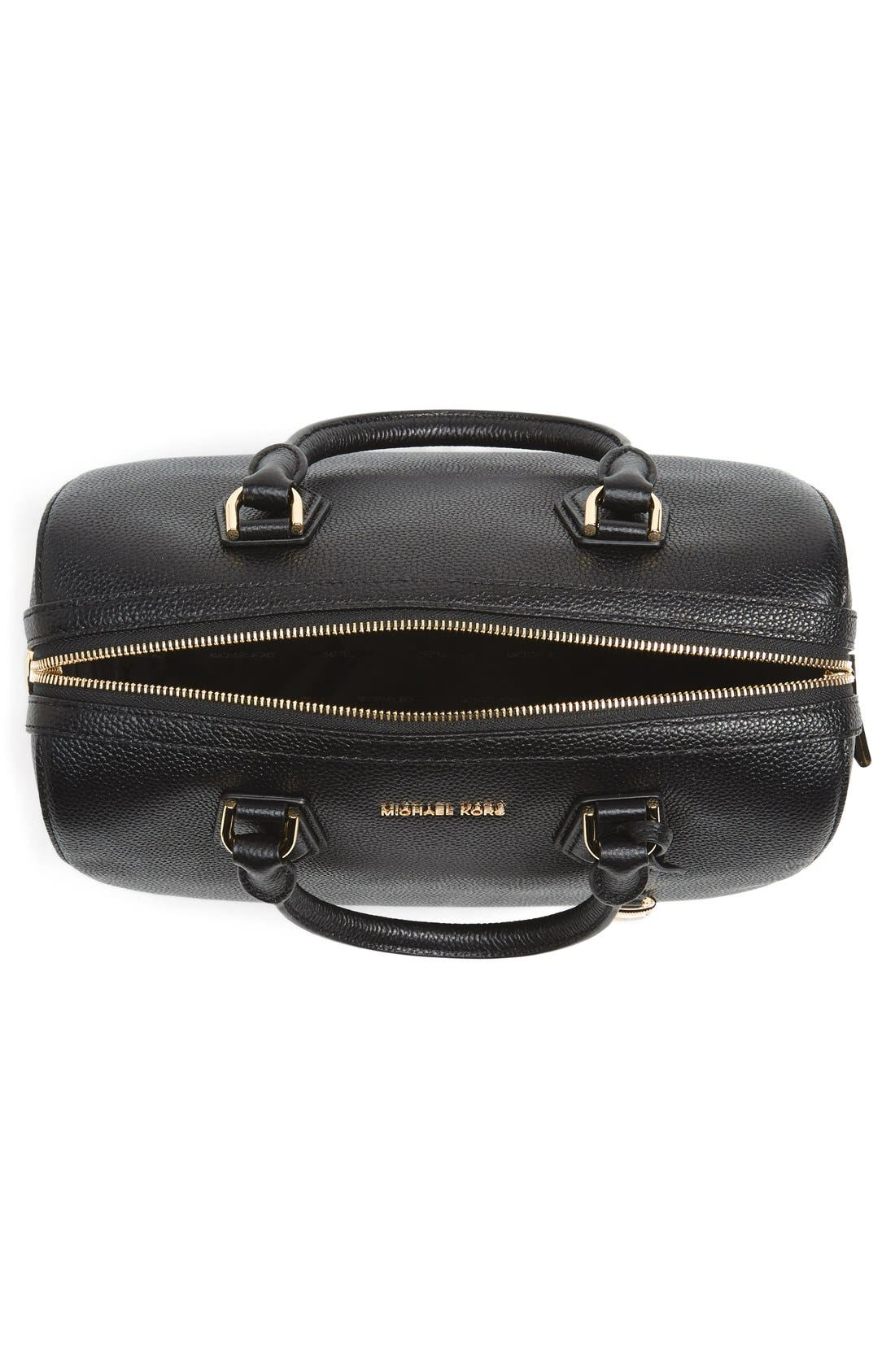Medium Mercer Duffel Bag,                             Alternate thumbnail 4, color,                             Black/ Gold