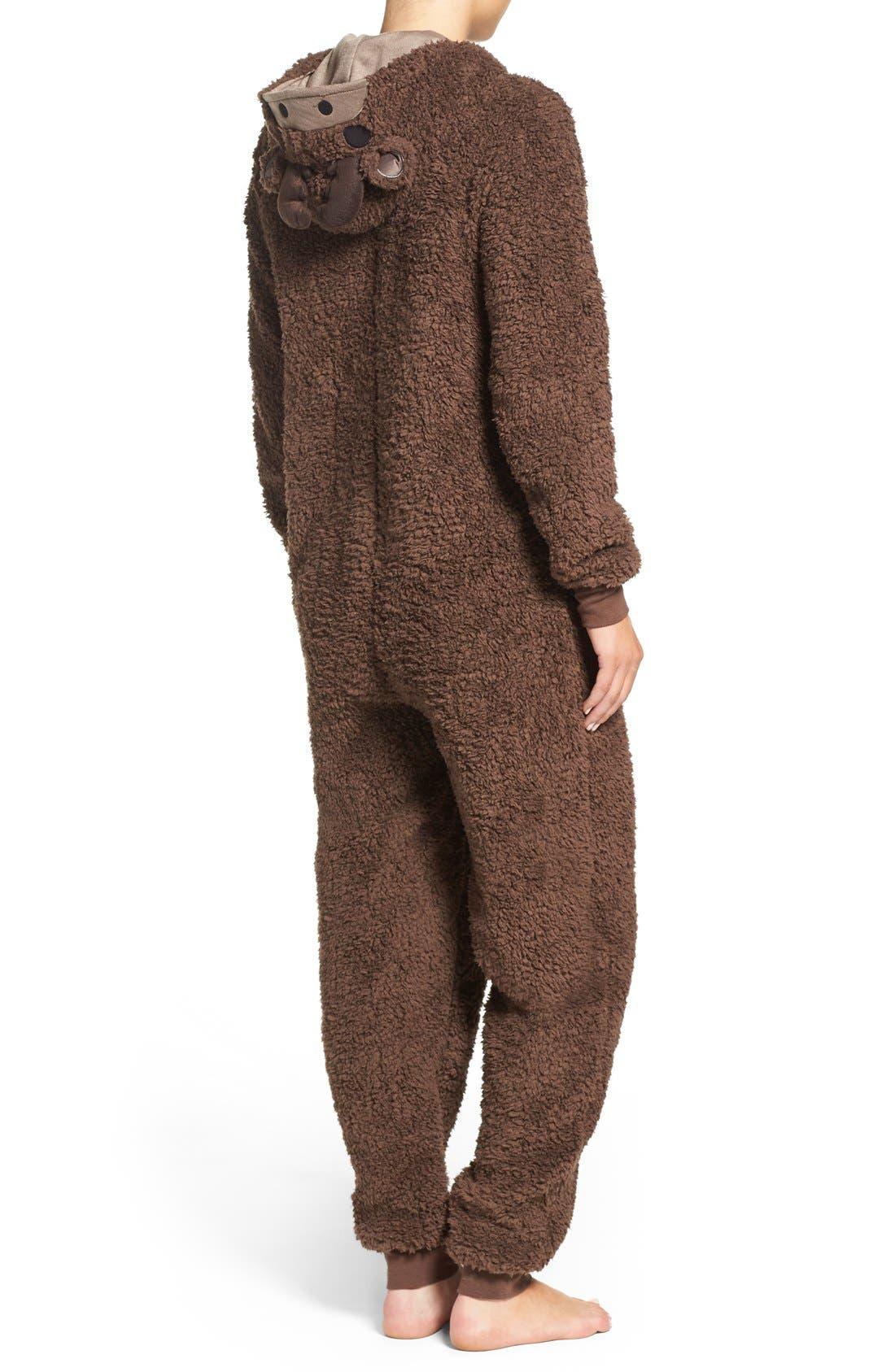 Alternate Image 2  - COZY ZOE Critter One-Piece Pajamas