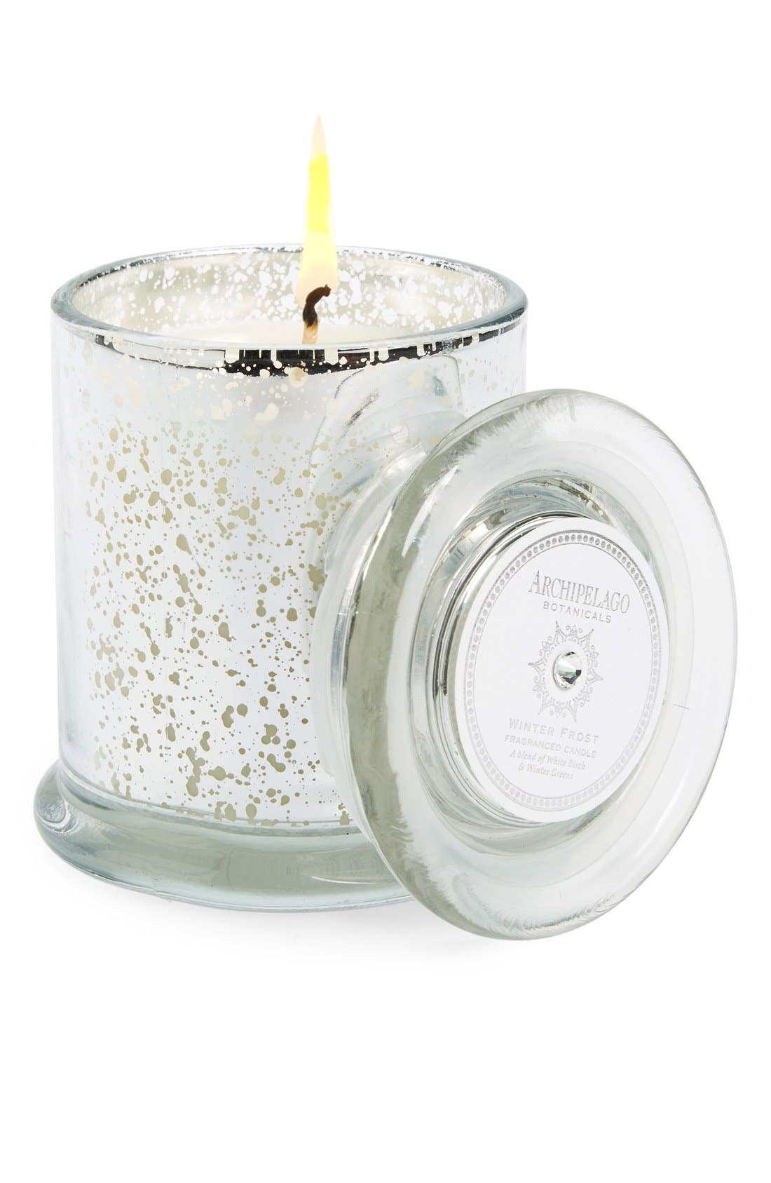 'Winter Frost' Jar Candle,                             Main thumbnail 1, color,                             White