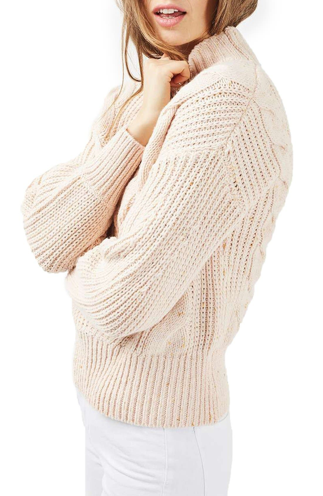 Main Image - Topshop Cable Knit Sweater