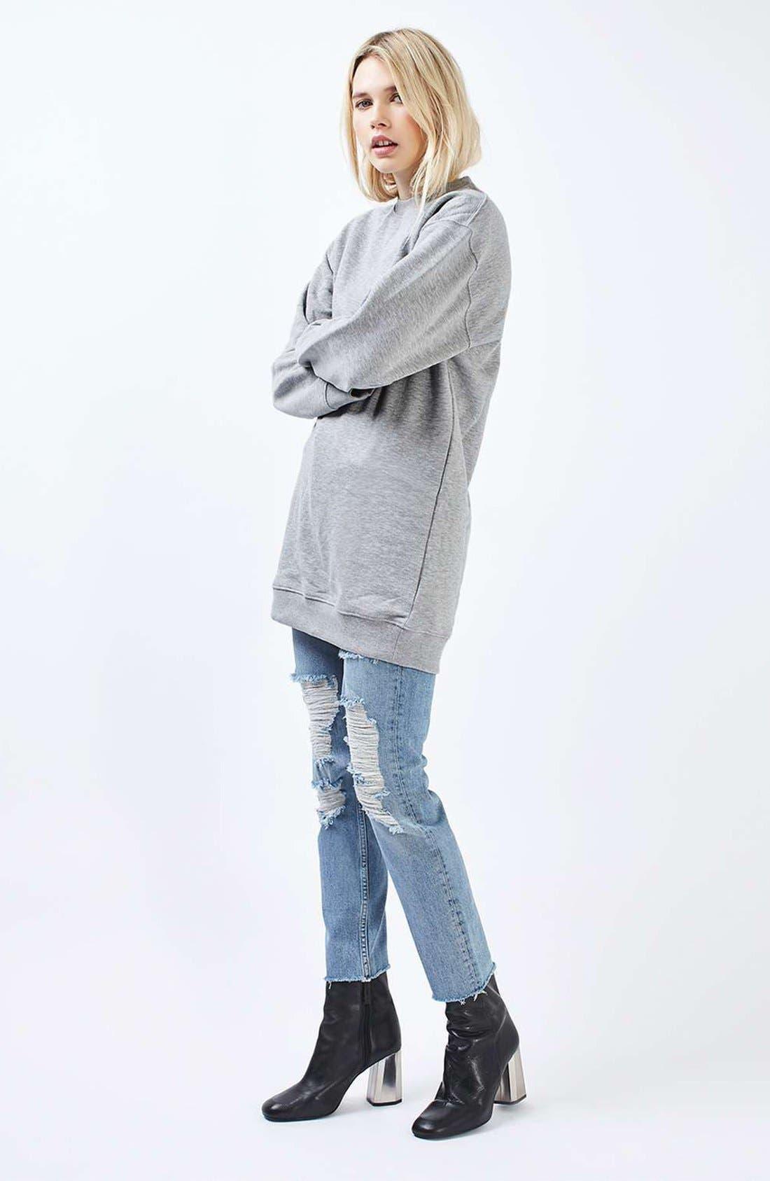 Alternate Image 2  - Topshop Sweatshirt Tunic