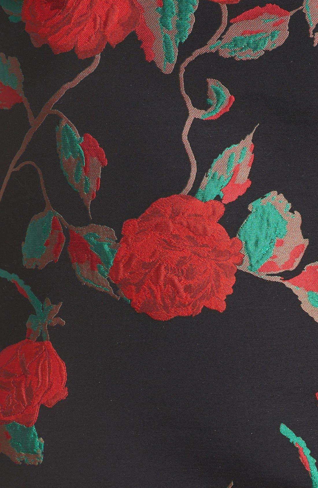 Alternate Image 5  - Tahari Rose Jacquard Shift Dress (Plus Size)