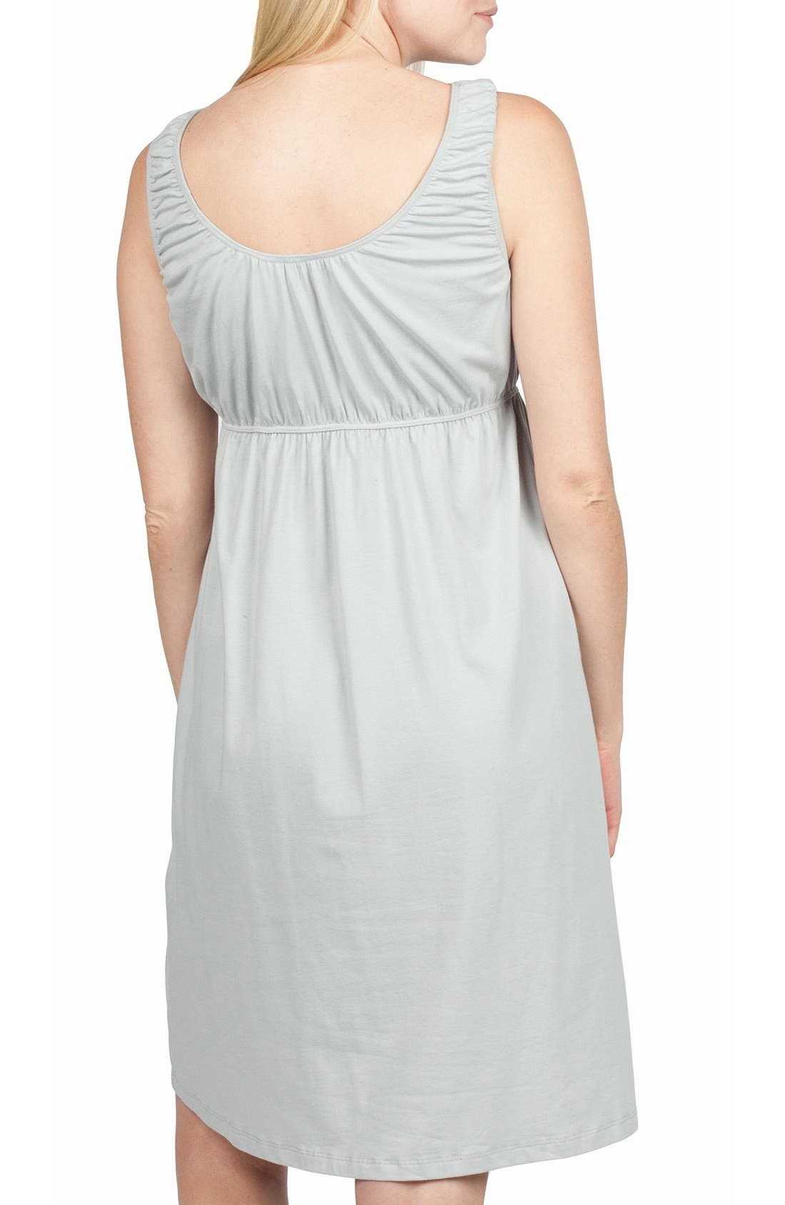 Alternate Image 2  - Savi Mom Oxford Maternity/Nursing Nightgown