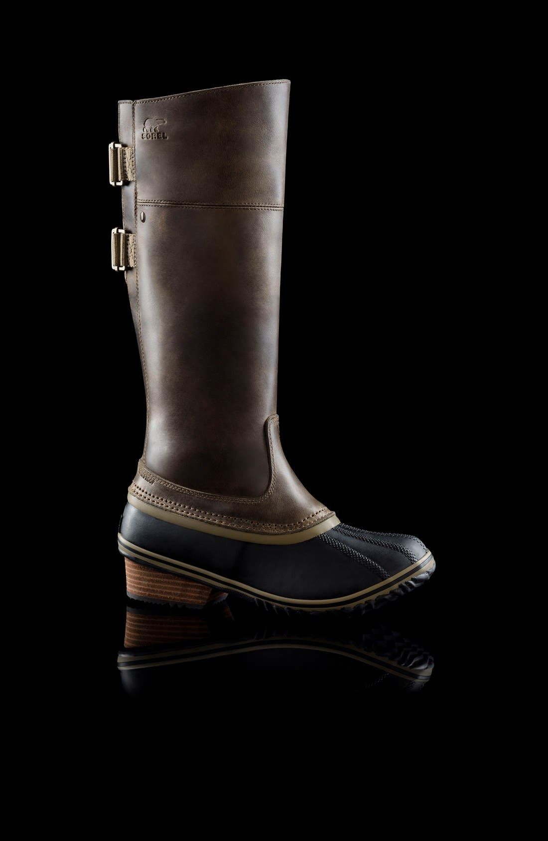 'Slimpack II' Waterproof Riding Boot,                             Alternate thumbnail 6, color,                             Dark Fog