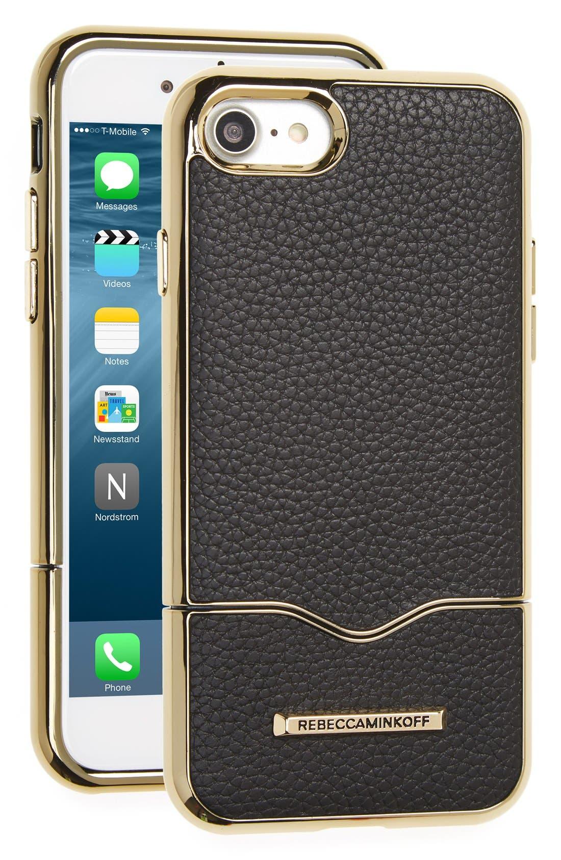 Rebecca Minkoff Leather iPhone 7 Slider Case
