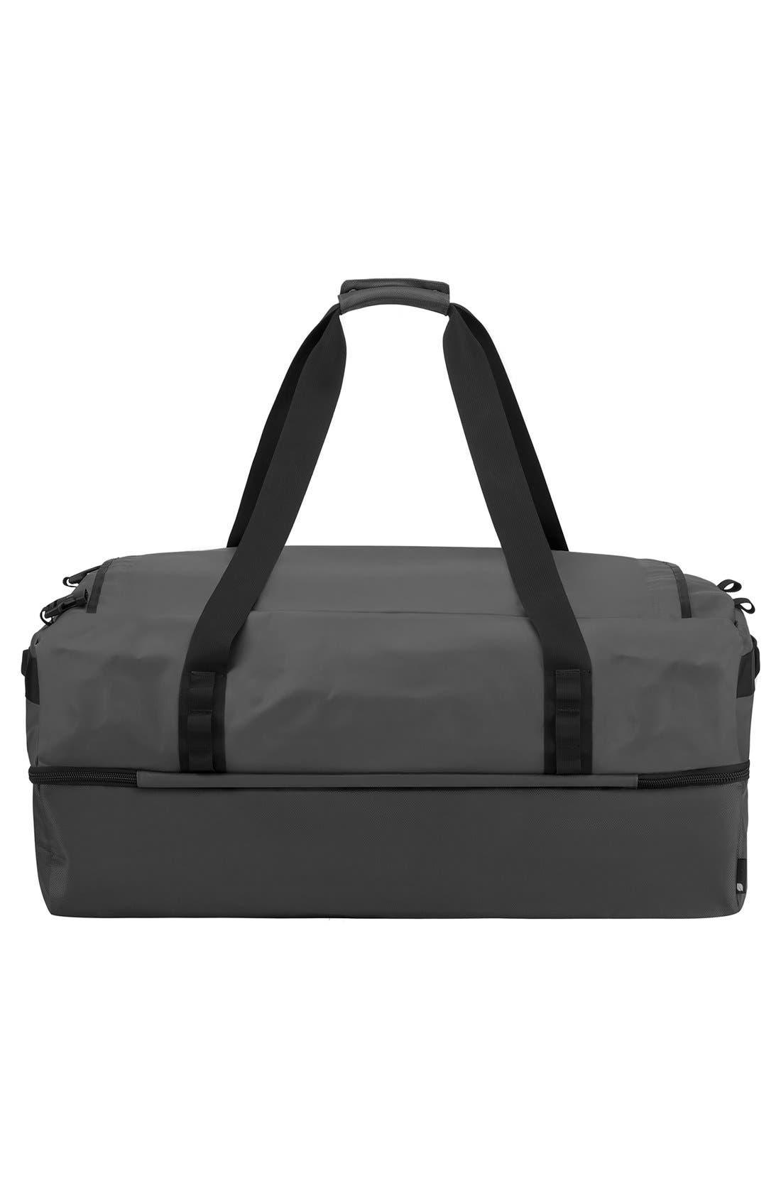 TRACTO Medium Split Convertible Duffel Bag,                             Alternate thumbnail 4, color,                             Black