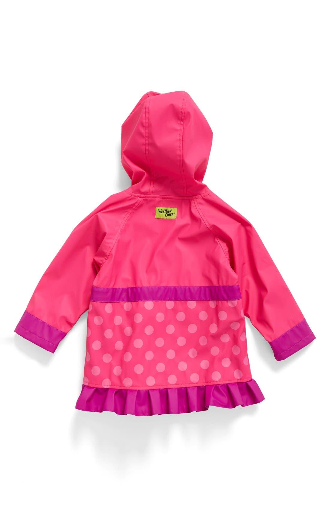 Alternate Image 2  - Western Chief Flower Cutie Raincoat (Toddler Girls & Little Girls)