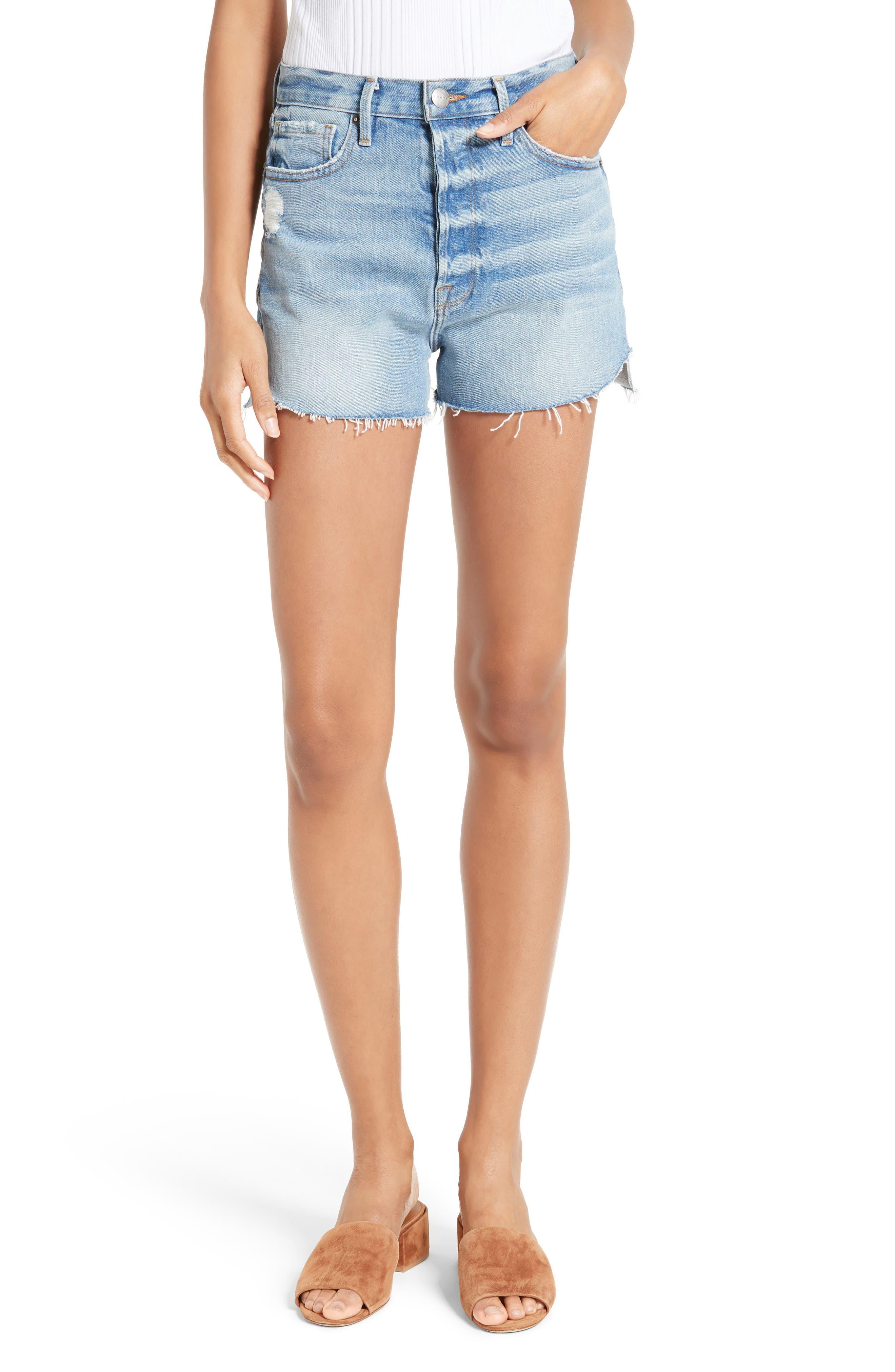 FRAME Le Original Tulip High Waist Denim Shorts