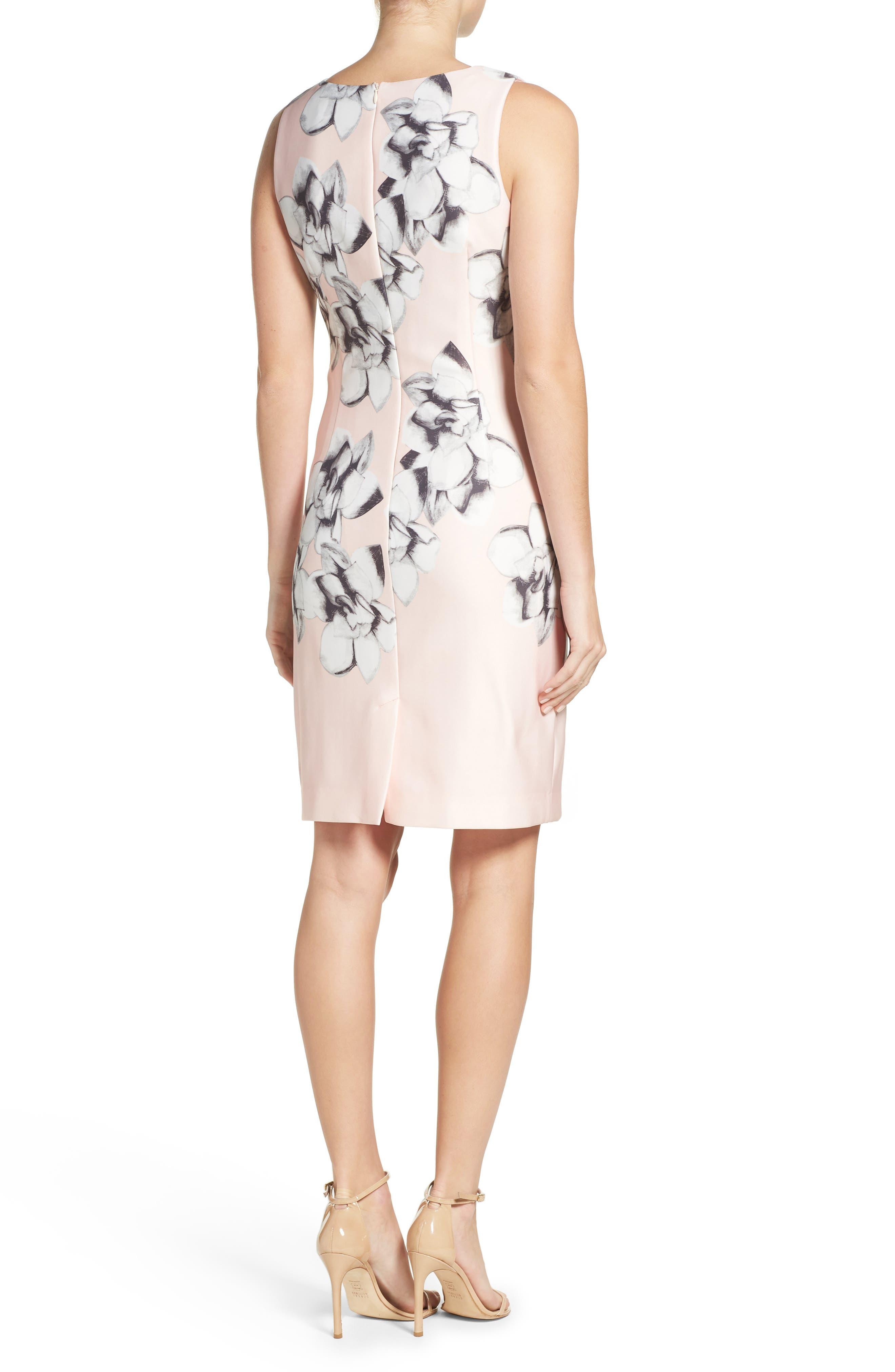 Alternate Image 2  - Chetta B Scuba Sheath Dress