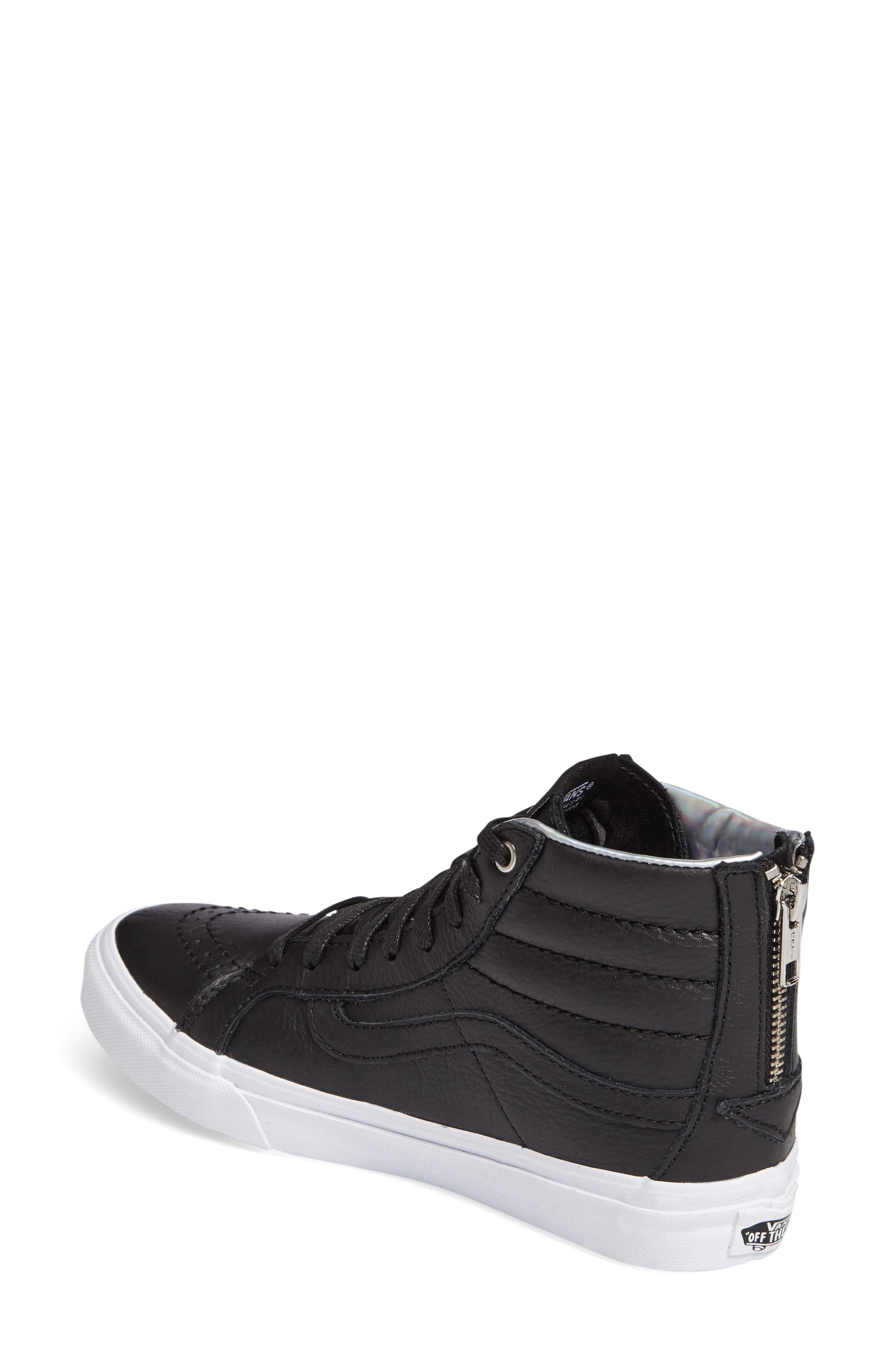 Alternate Image 2  - Vans 'Sk8-Hi Slim' Metallic Leather Sneaker (Women)